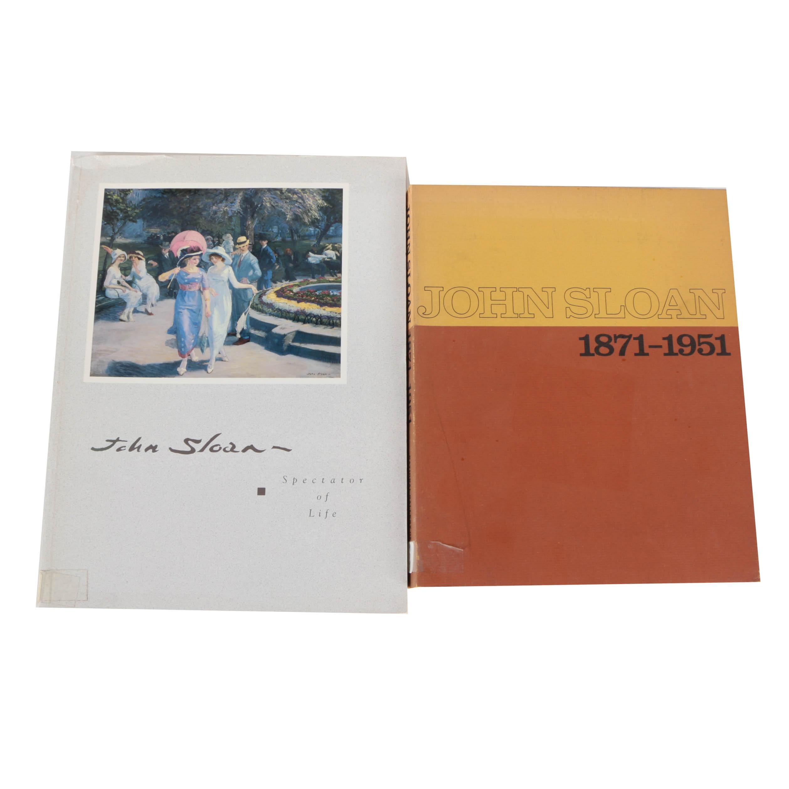 Pair of John Sloan Art Books