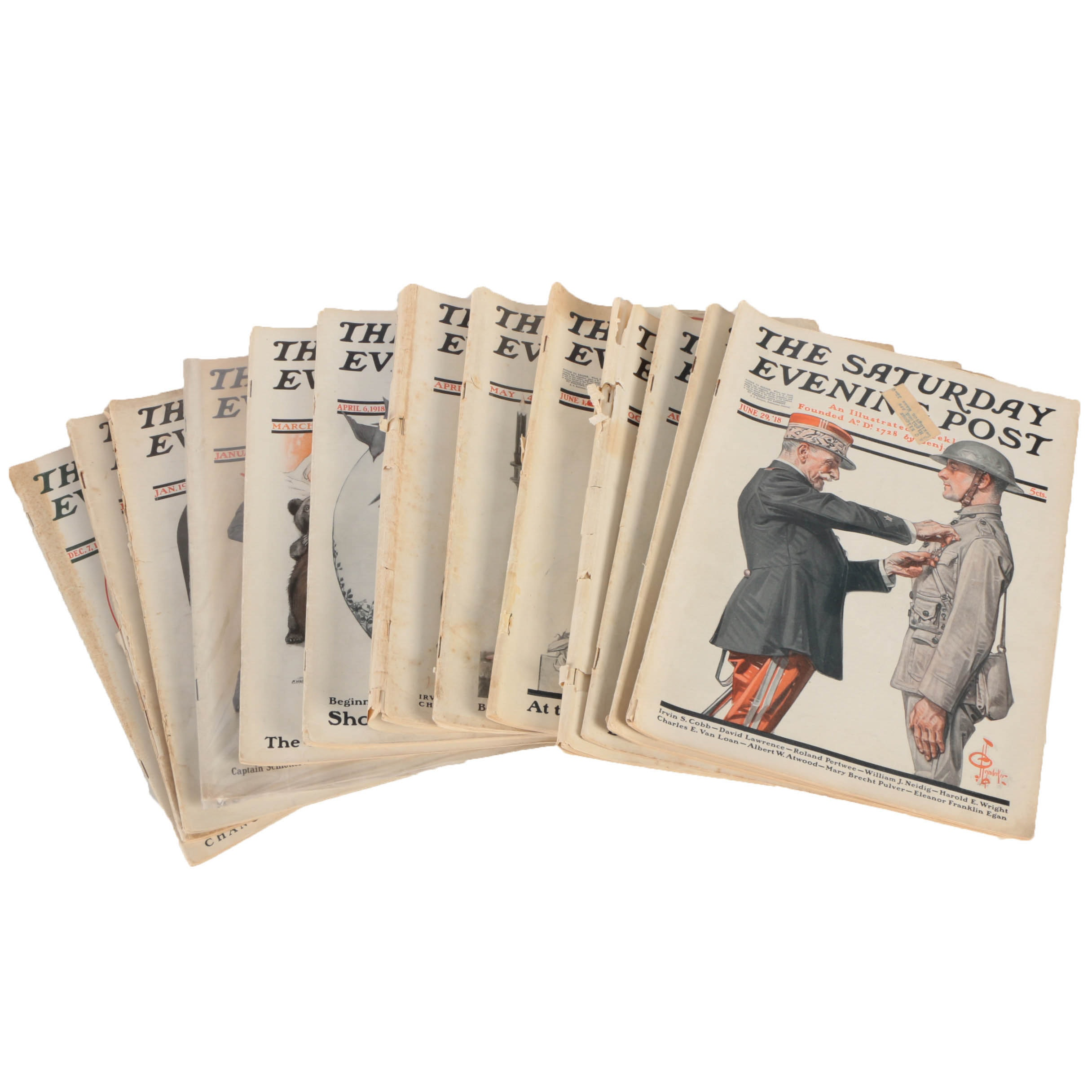 "Collection of ""The Saturday Evening Post"" from 1918"
