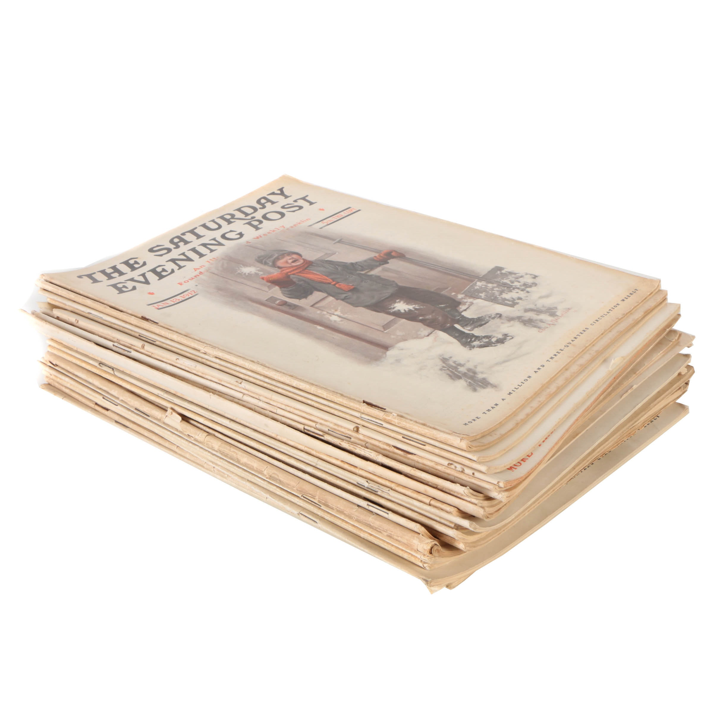 "Collection of ""The Saturday Evening Post"" from 1912"
