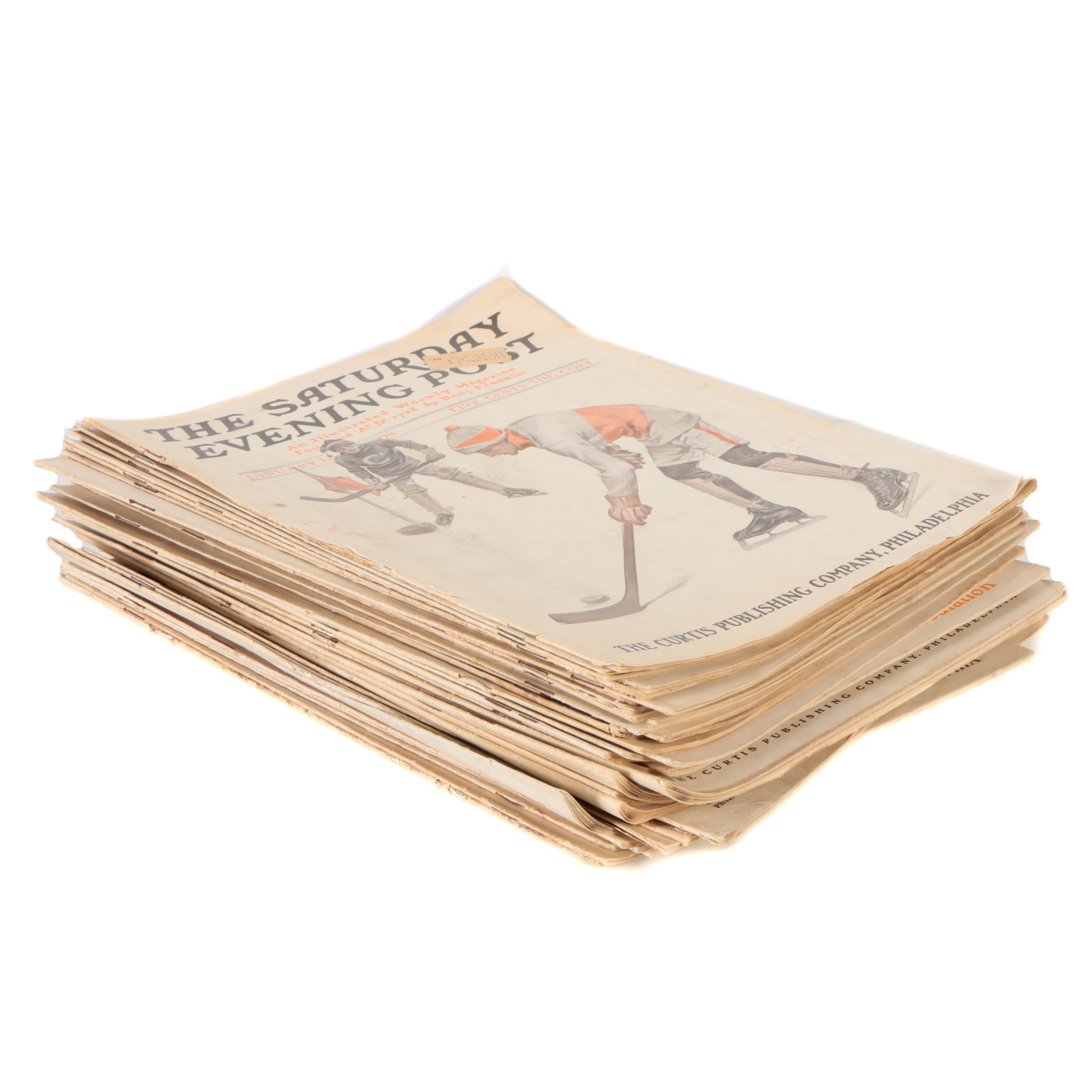 Collection of _The Saturday Evening Post_ from 1908