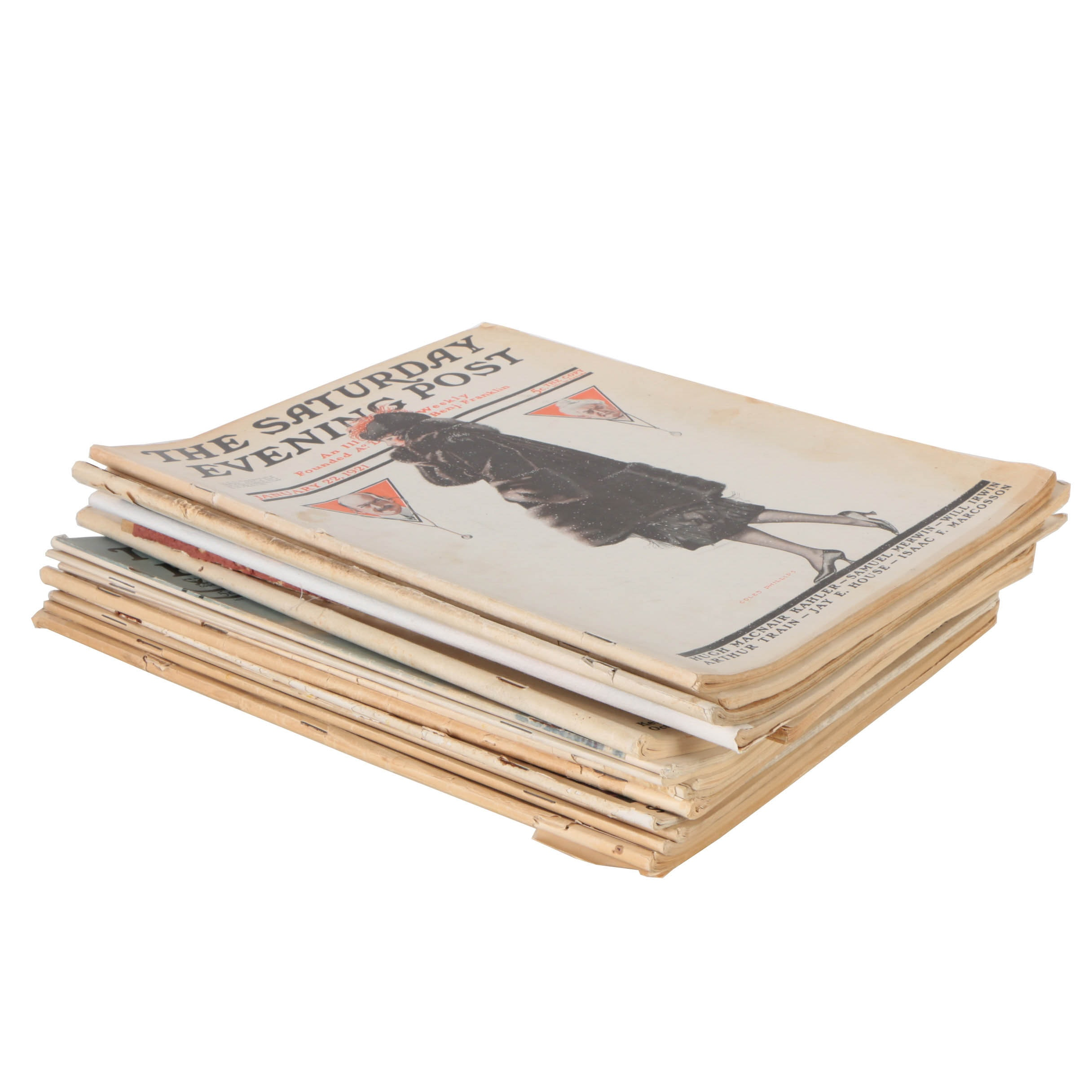 "Collection of ""The Saturday Evening Post"" from the 1920s and 30s"