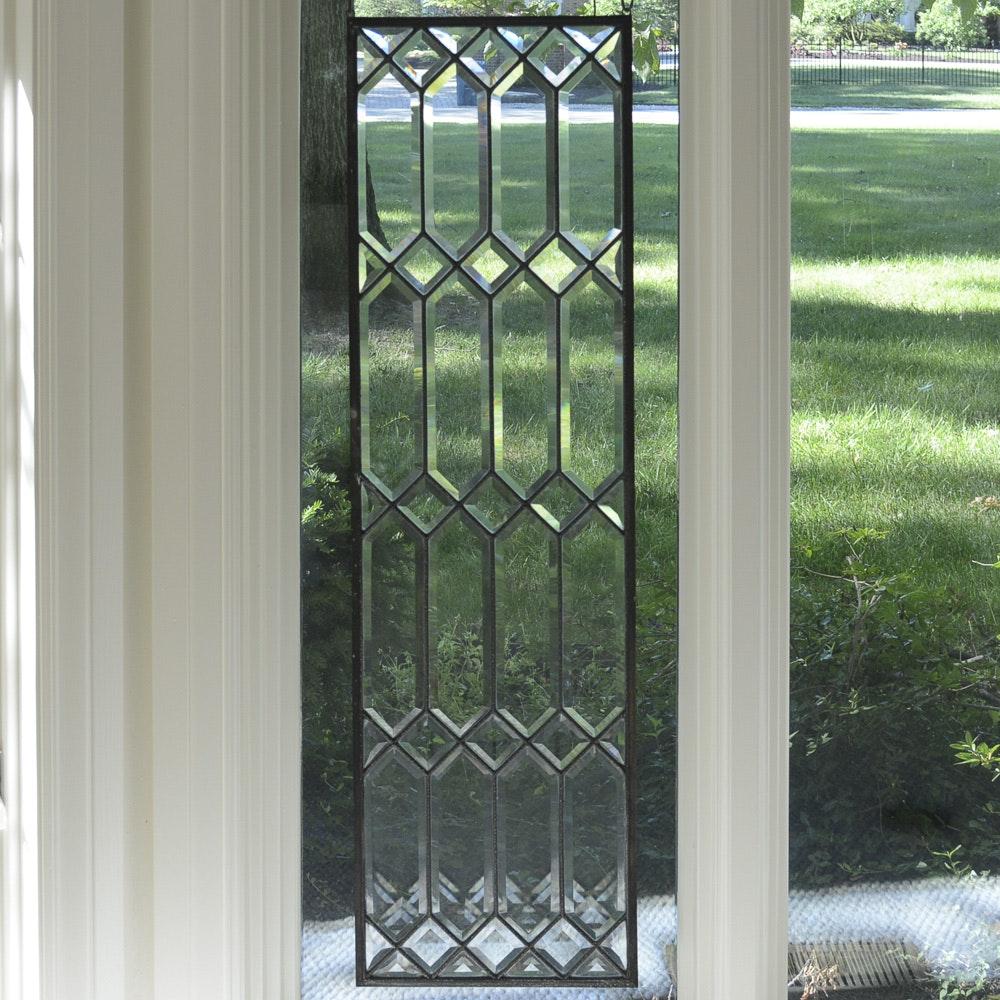 Leaded Beveled Glass Panel