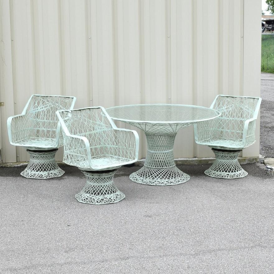 Mid Century Outdoor Furniture: Mid-Century Russel Woodard Spun Fiberglass Patio Furniture
