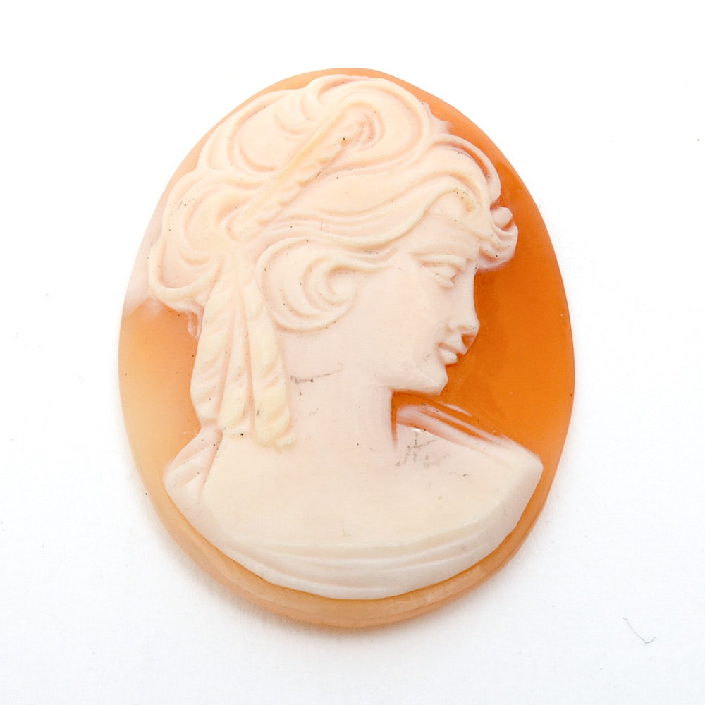 Loose Carved Shell Cameo