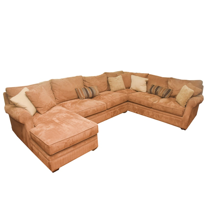 Upholstered sectional couch by arhaus ebth for Sectional sofas arhaus