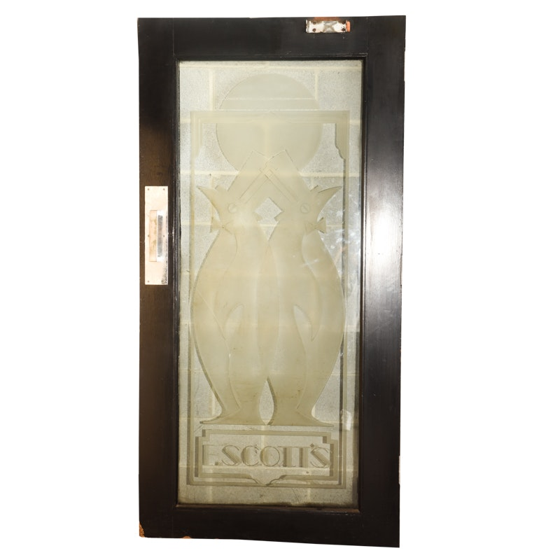 Art Deco Style Glass Panel Door From F. Scott's