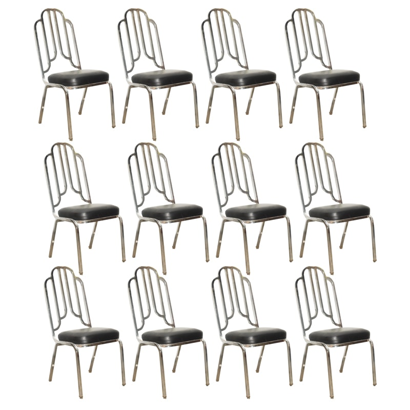 Set of Twelve Art Deco Style Dining Chairs