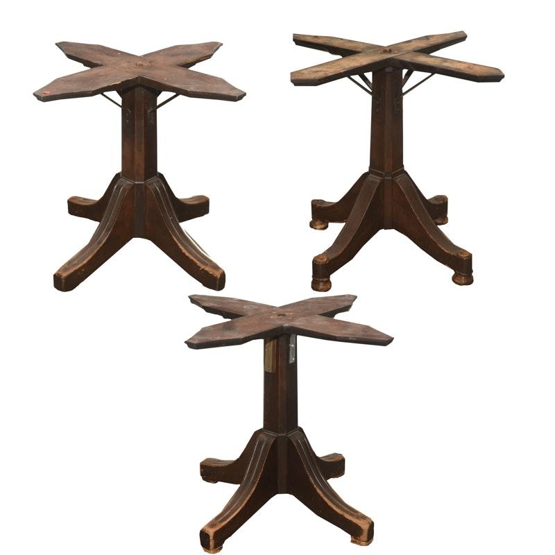Vintage Mahogany Pedestal Table Bases ...