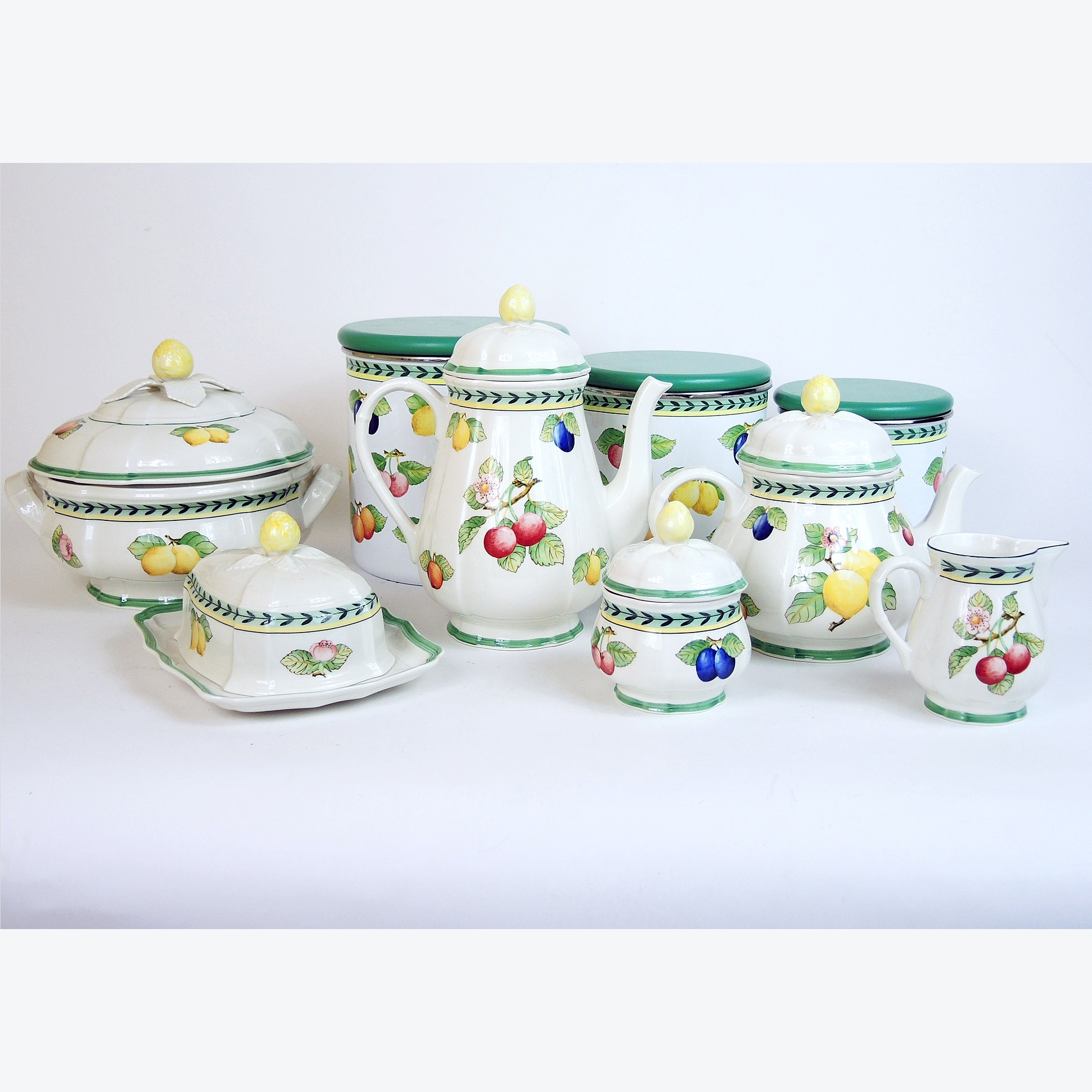 Villeroy and Boch Coffee-Tea Service, Canister Set, and Tableware