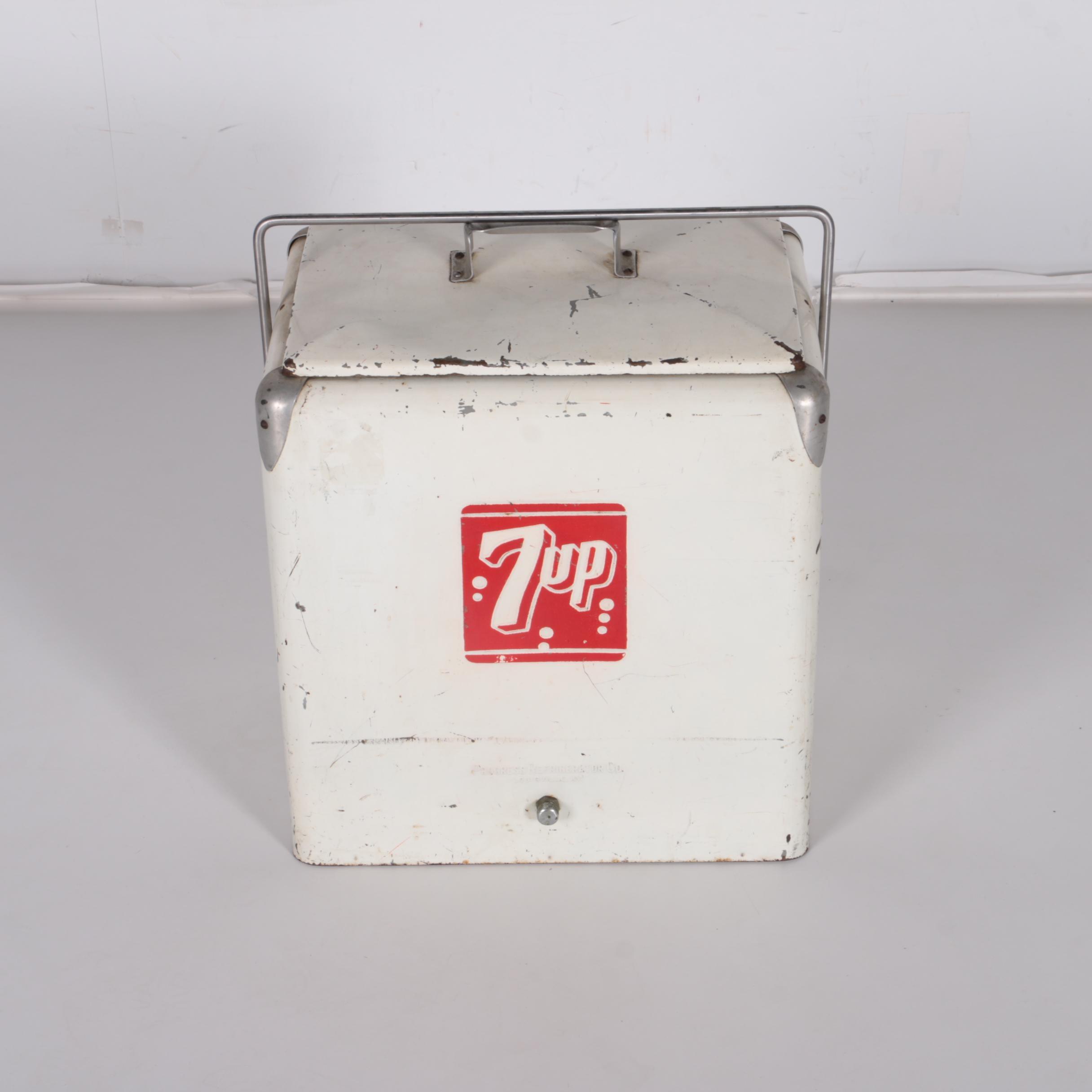 Vintage 7 Up Metal Cooler