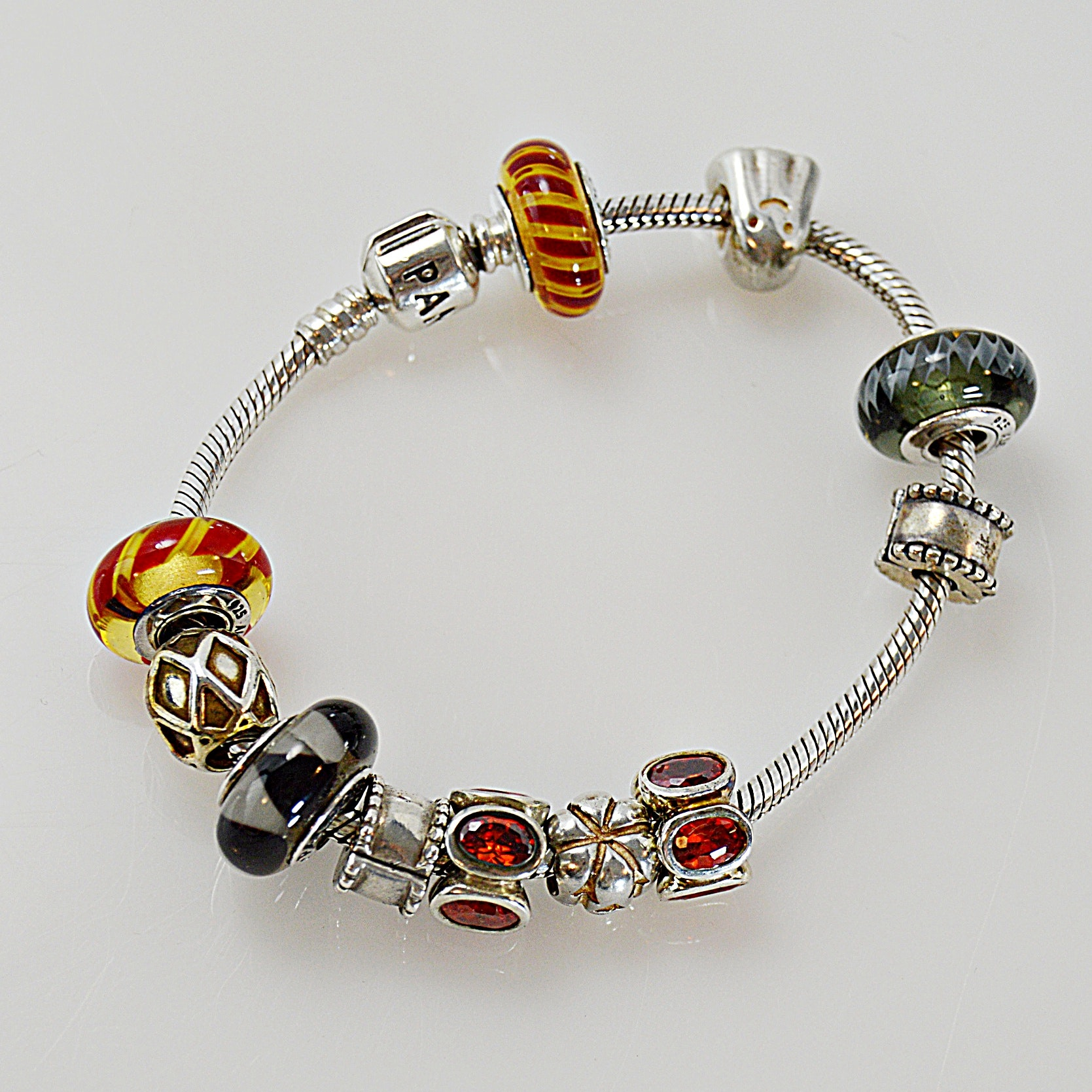 Pandora Fall-Themed Sterling Silver Bracelet