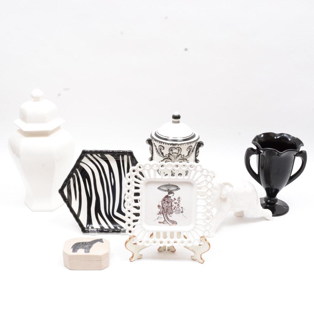Black and White Porcelain Decor