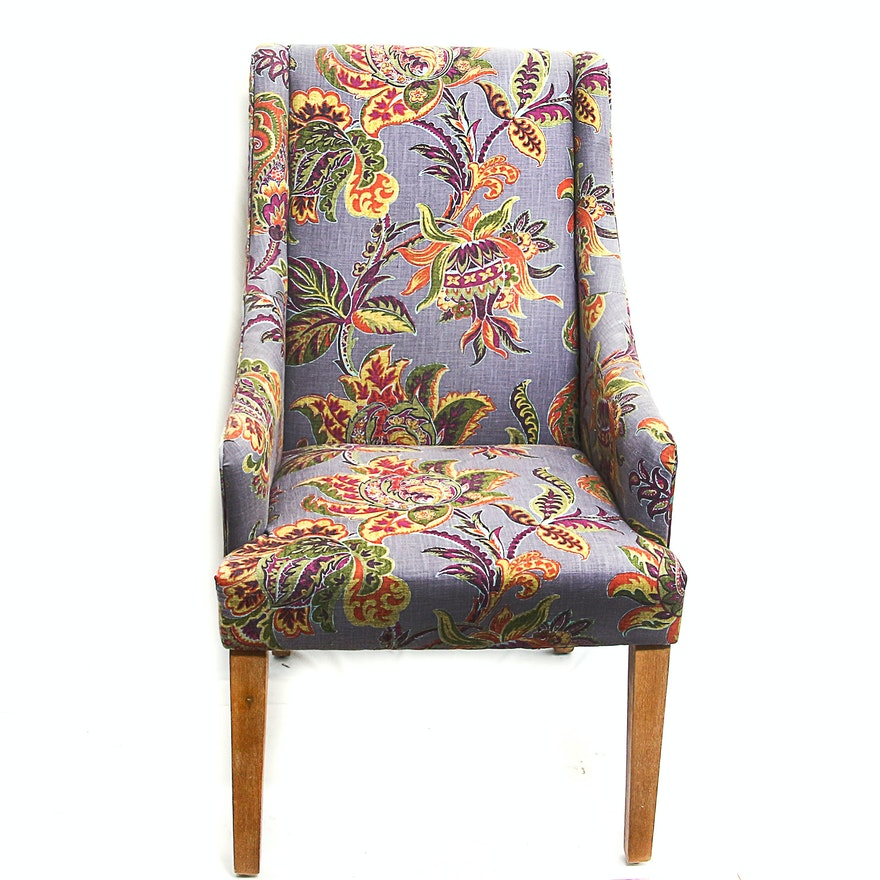 Colorful Floral Accent Chair Ebth