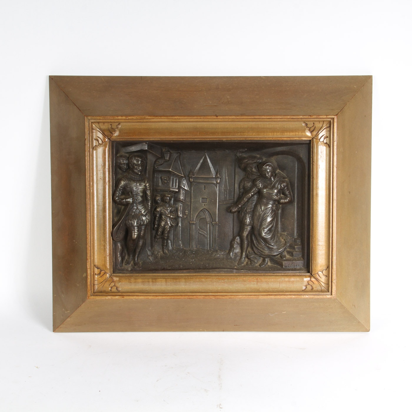 Henri L. Levasseur Metal Relief Plaque
