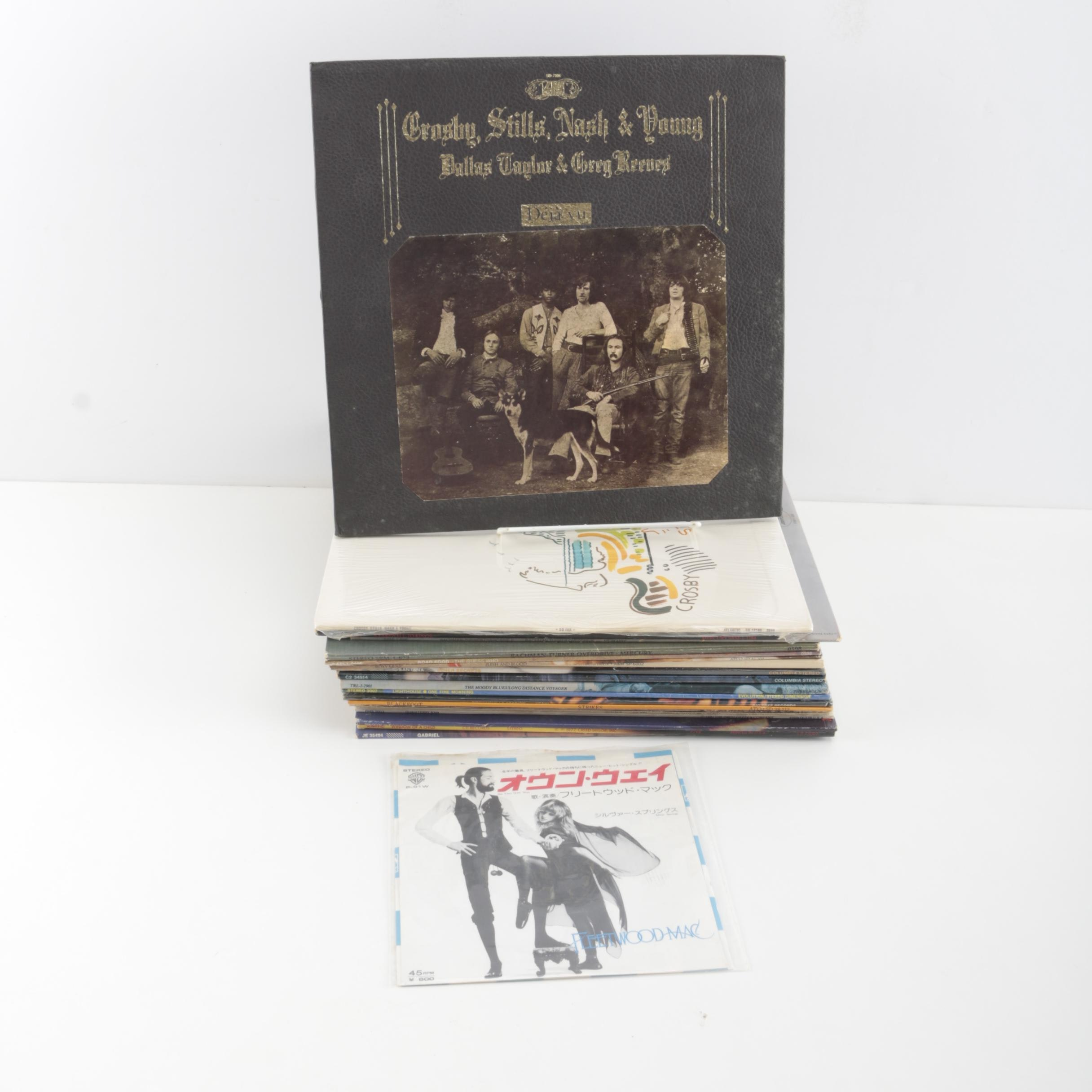Classic Rock Records Featuring Santana, Moody Blues, CSNY