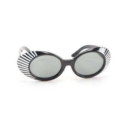 Vintage Black and White Statement Sunglasses