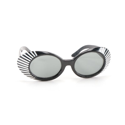Vintage Black and White Statement Sunglasses