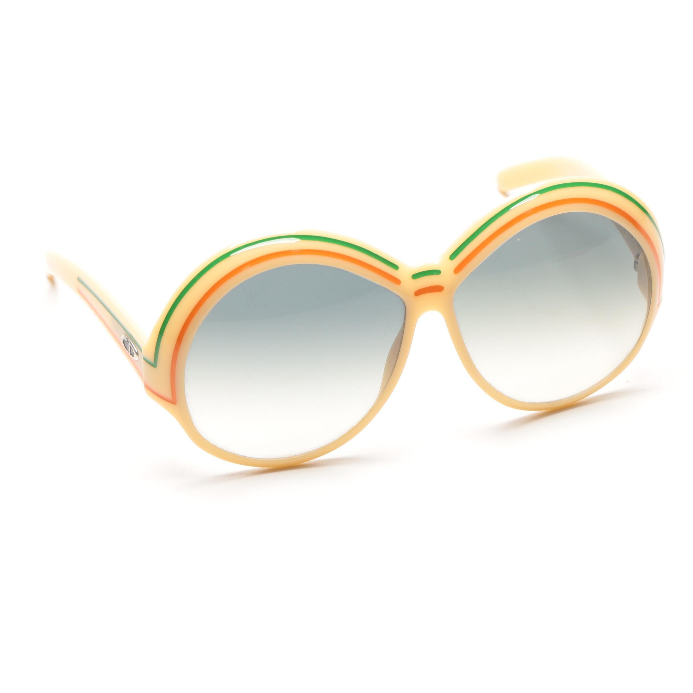 Circa 1970s Christian Dior Oversized Sunglasses