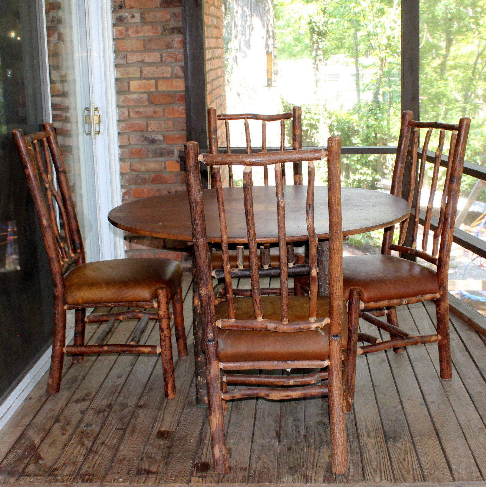 Flat Rock Furniture Rustic Dining Table And Chairs ...