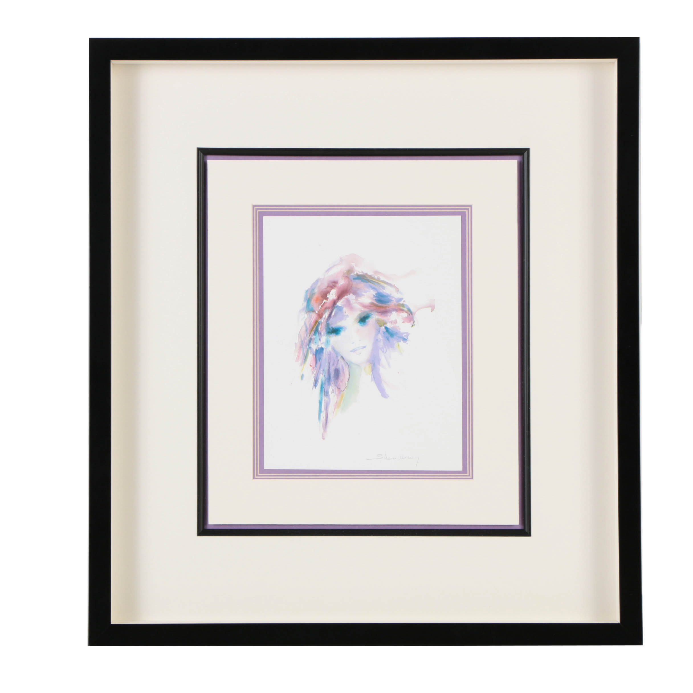 """After Shan Merry Offset Lithograph on Paper """"Amethysta"""""""