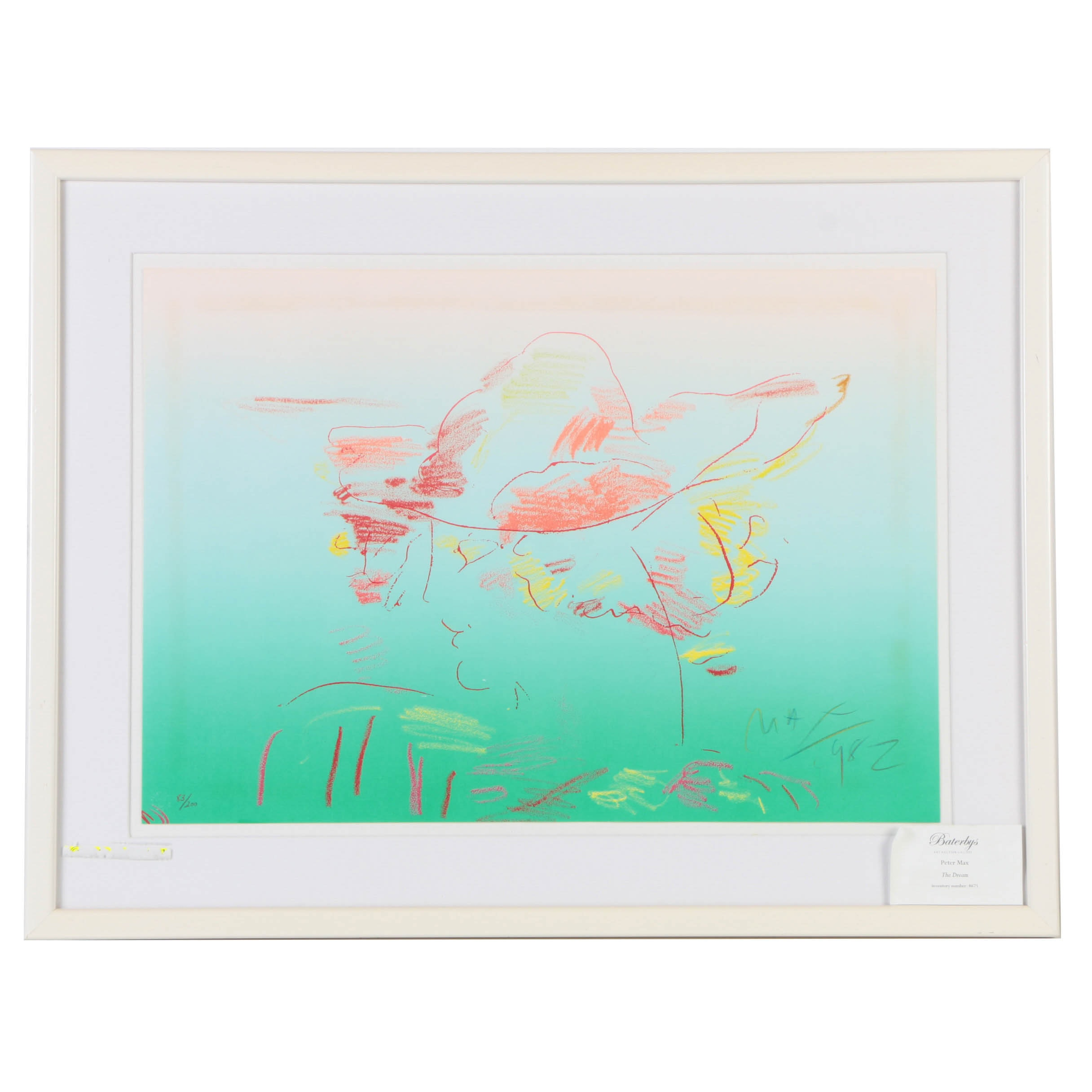 """Peter Max Limited Edition Lithograph on Paper """"The Dream"""""""