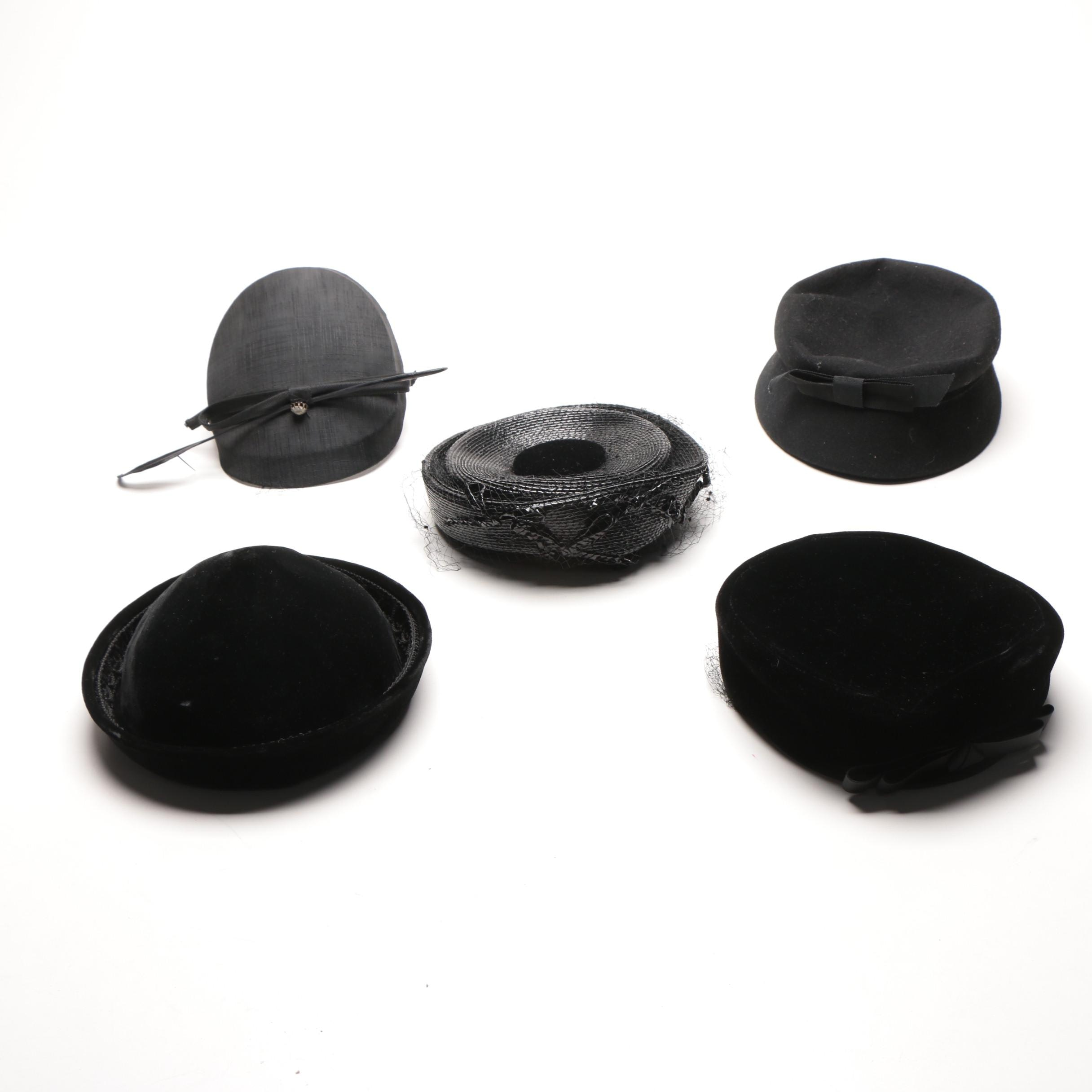 Collection of Vintage Black Hats