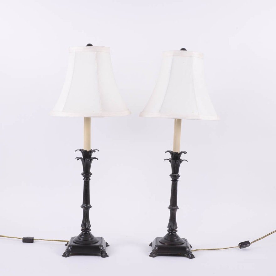 Pair of french provincial table lamps ebth pair of french provincial table lamps aloadofball Image collections