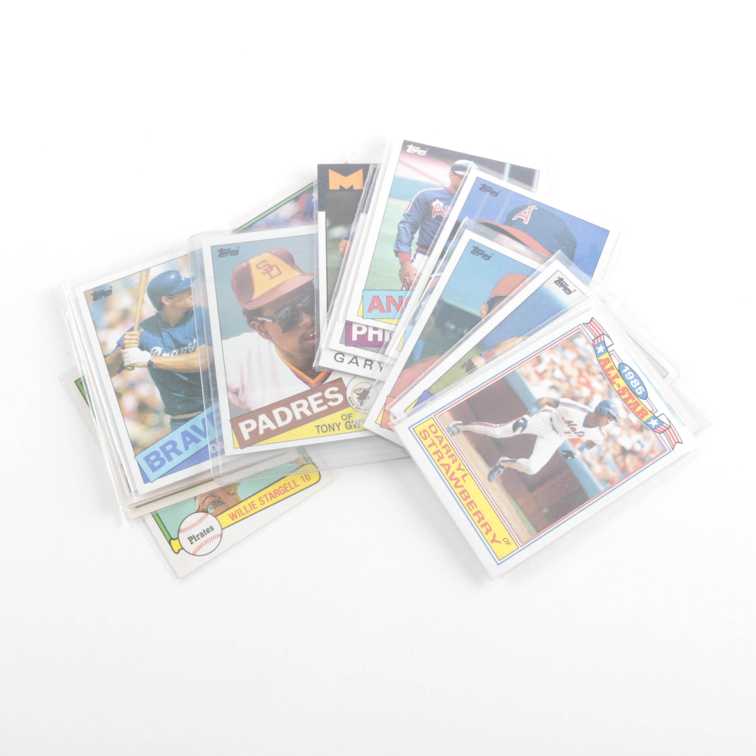 MLB Card Collection Including Orel Hershiser Rookie