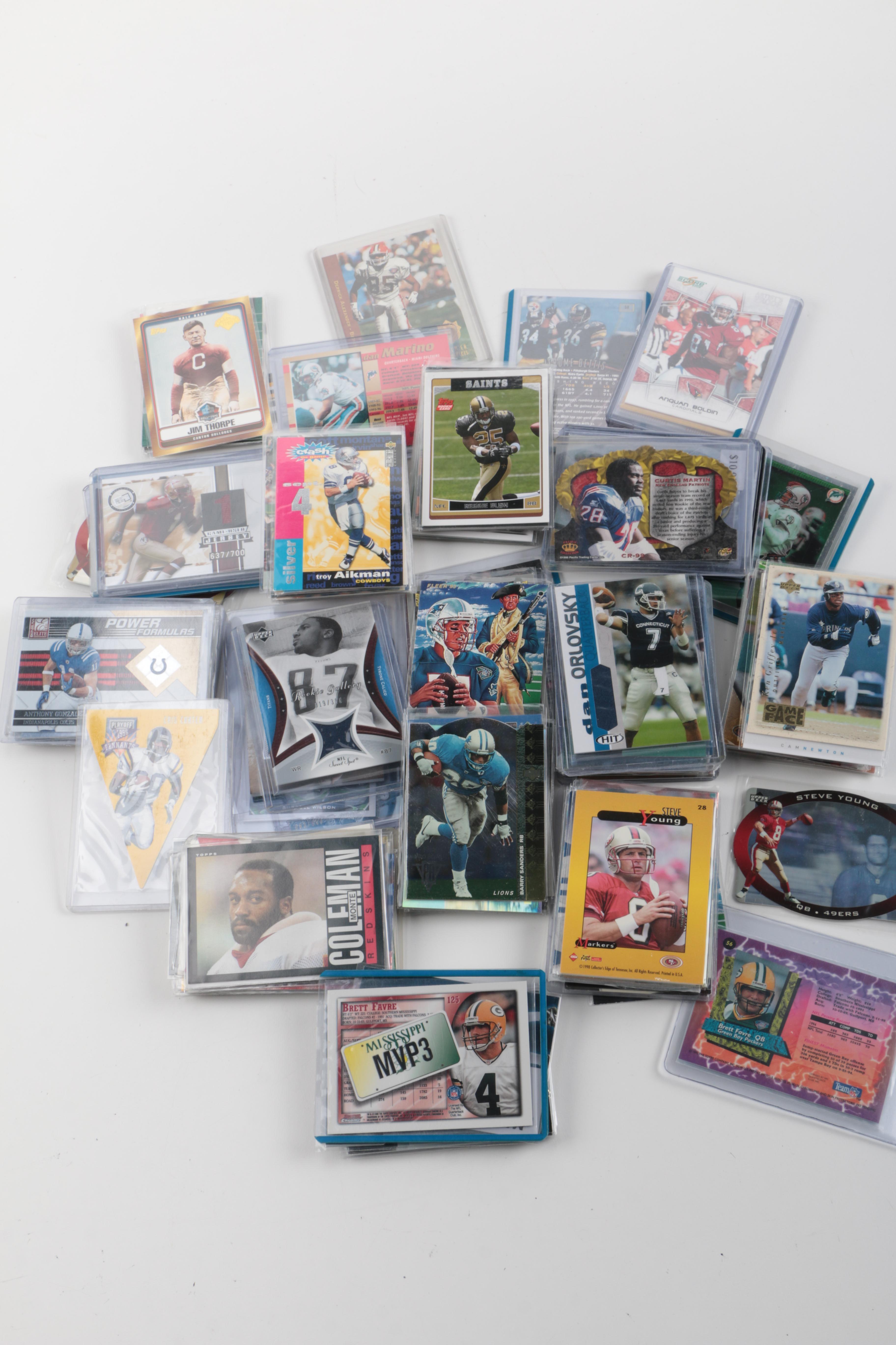 Assortment of 21st Century Football Cards