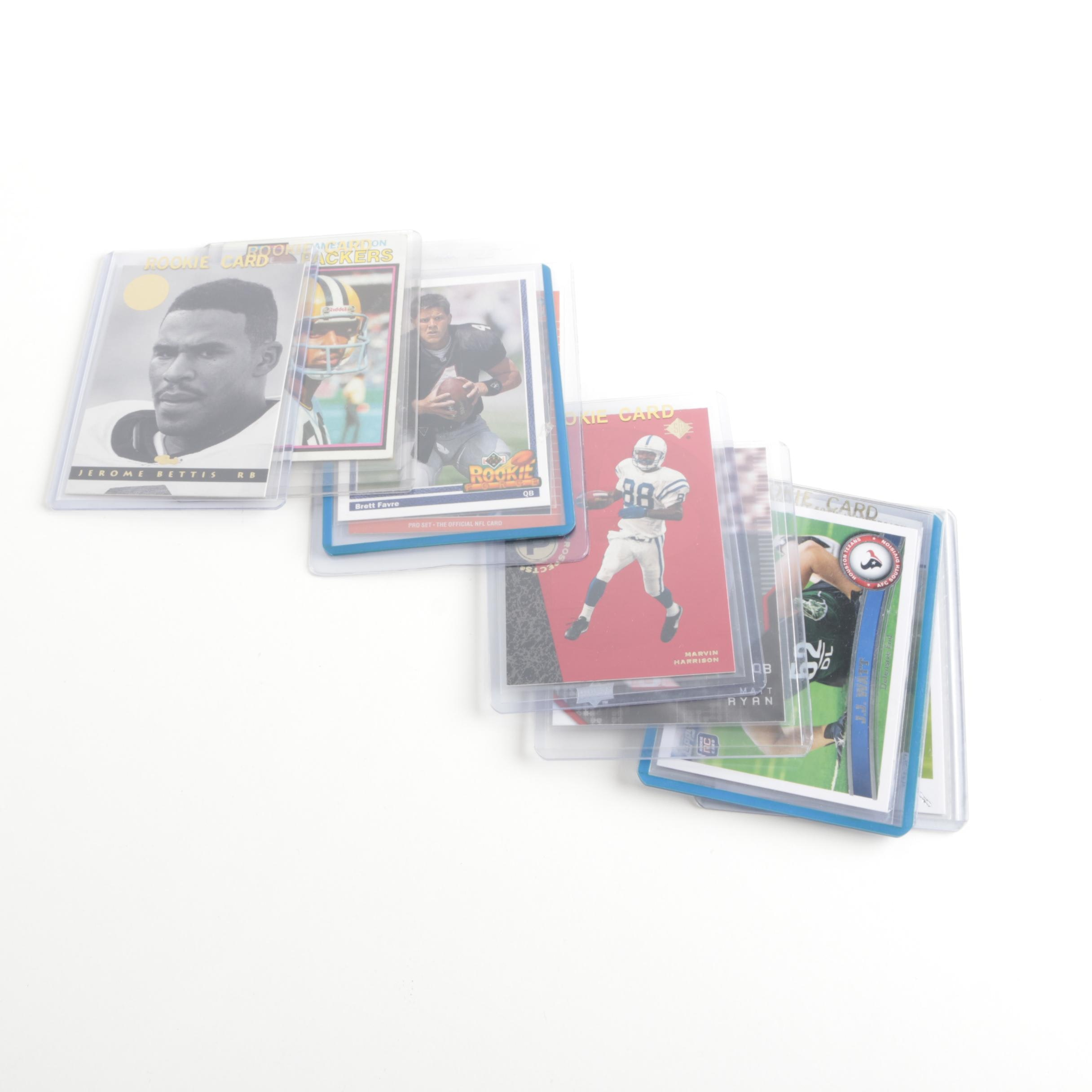 Assortment of Football Rookie Cards