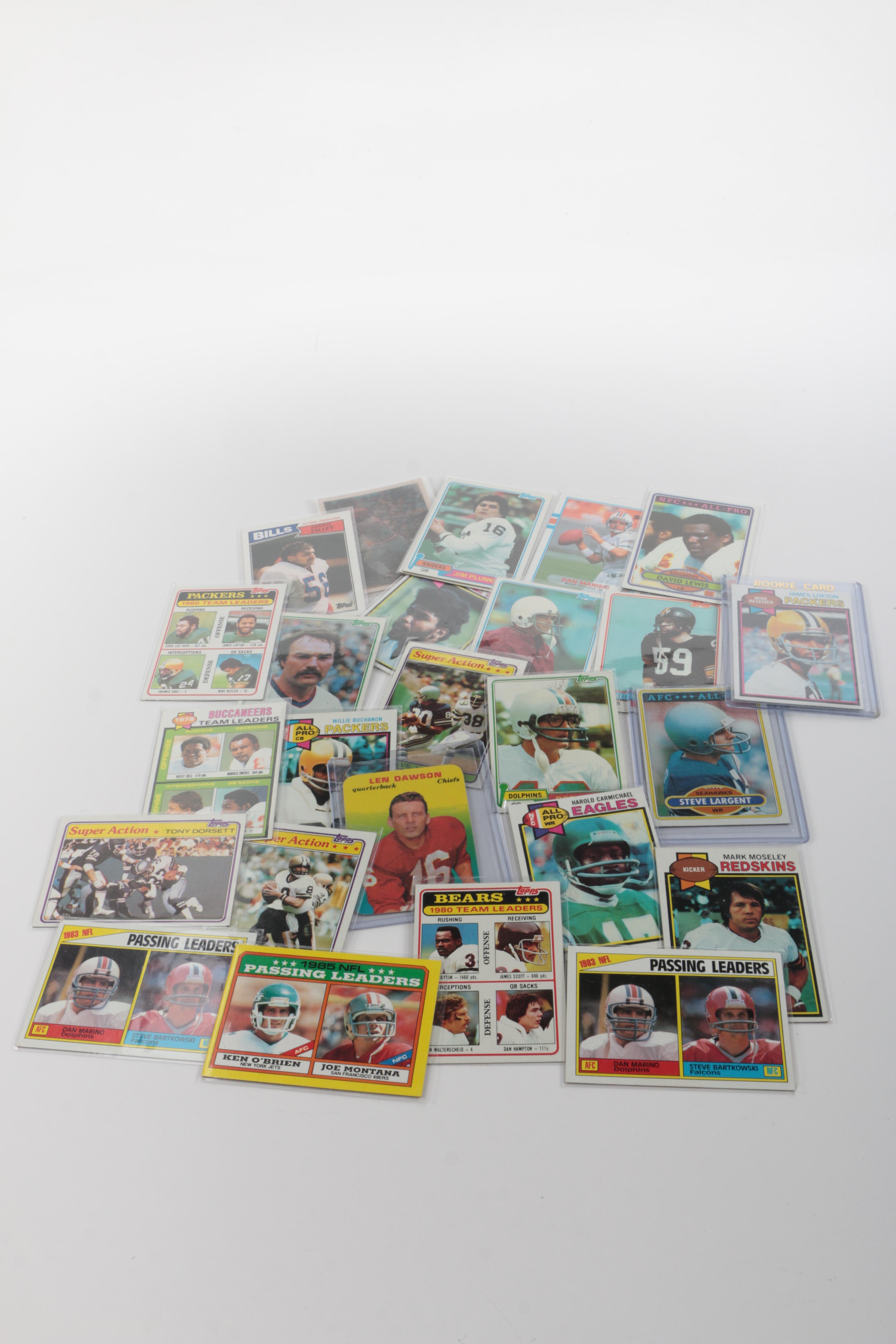 Vintage Football Cards Including James Lofton Rookie Card