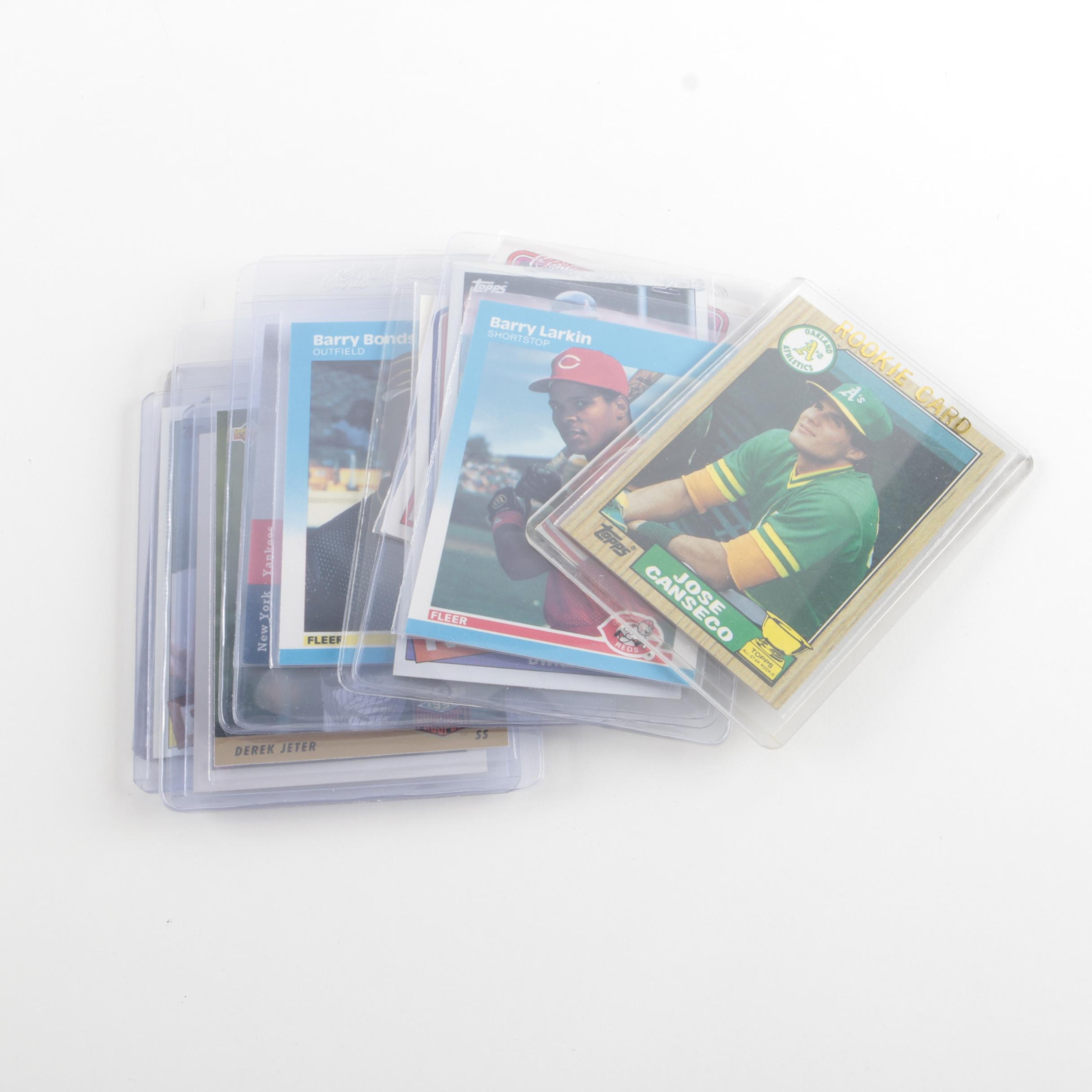 Assortment of Baseball and Hockey Cards Including a Signed Mo Vaughn Card