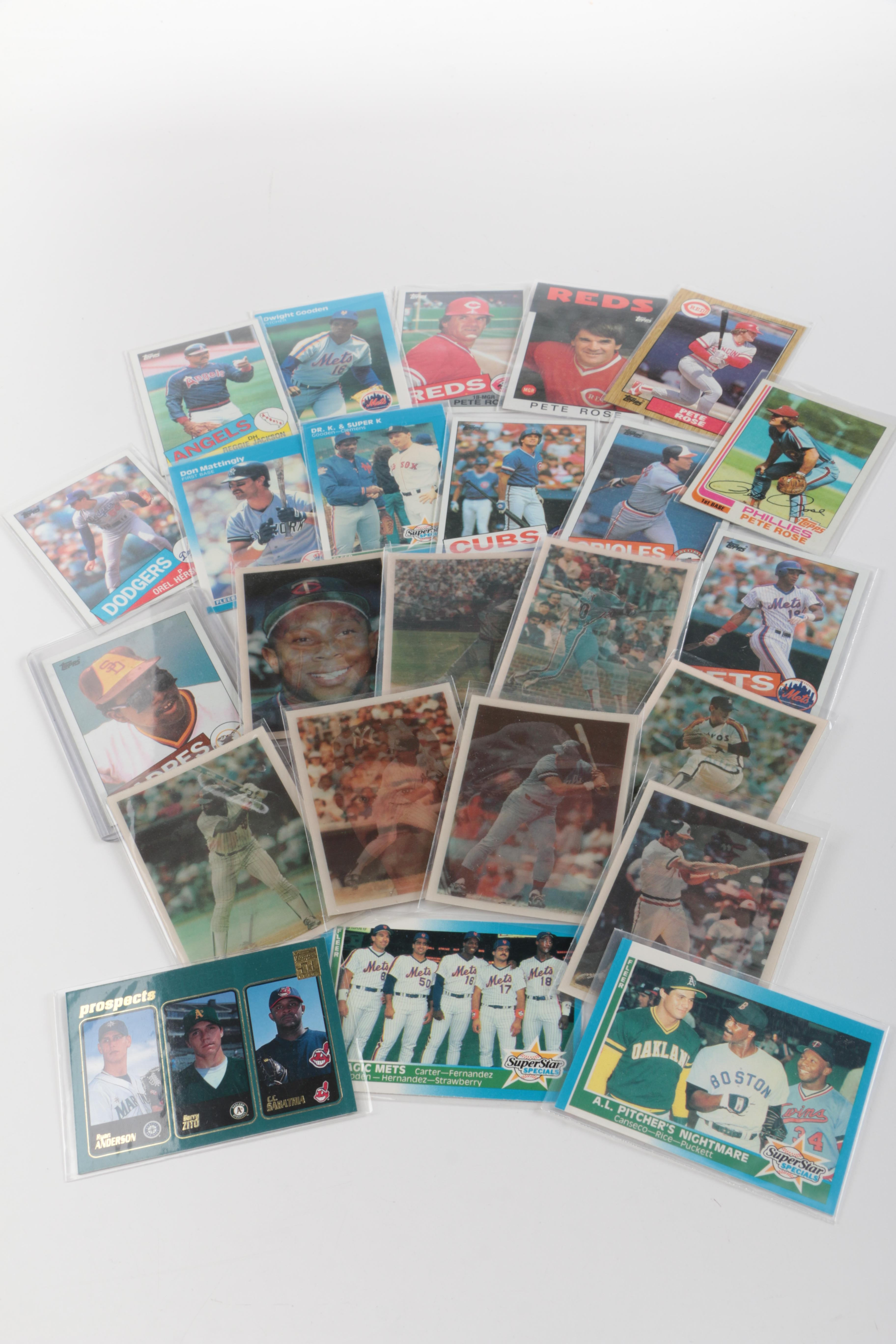 Assorted Baseball Card Collection  Including Orel Hershiser Rookie