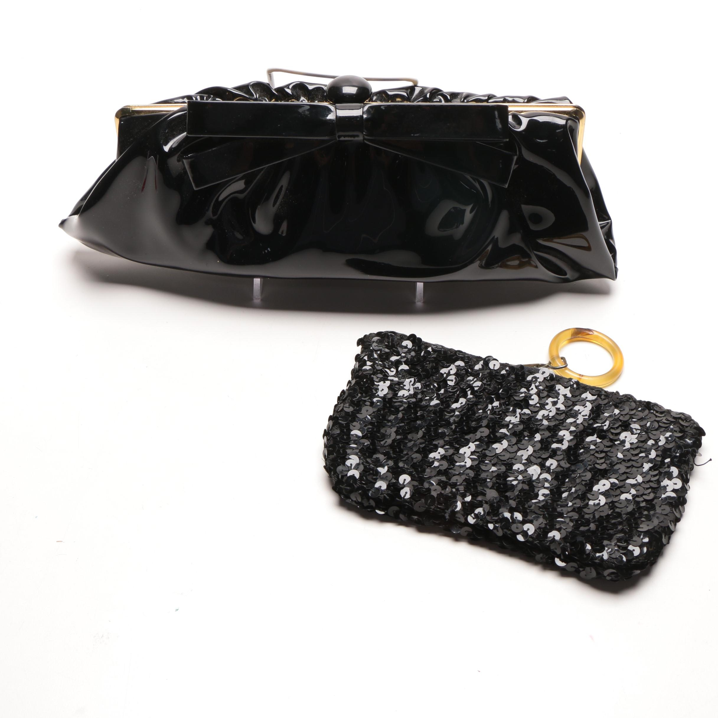 Pair of Black Vintage Handbags