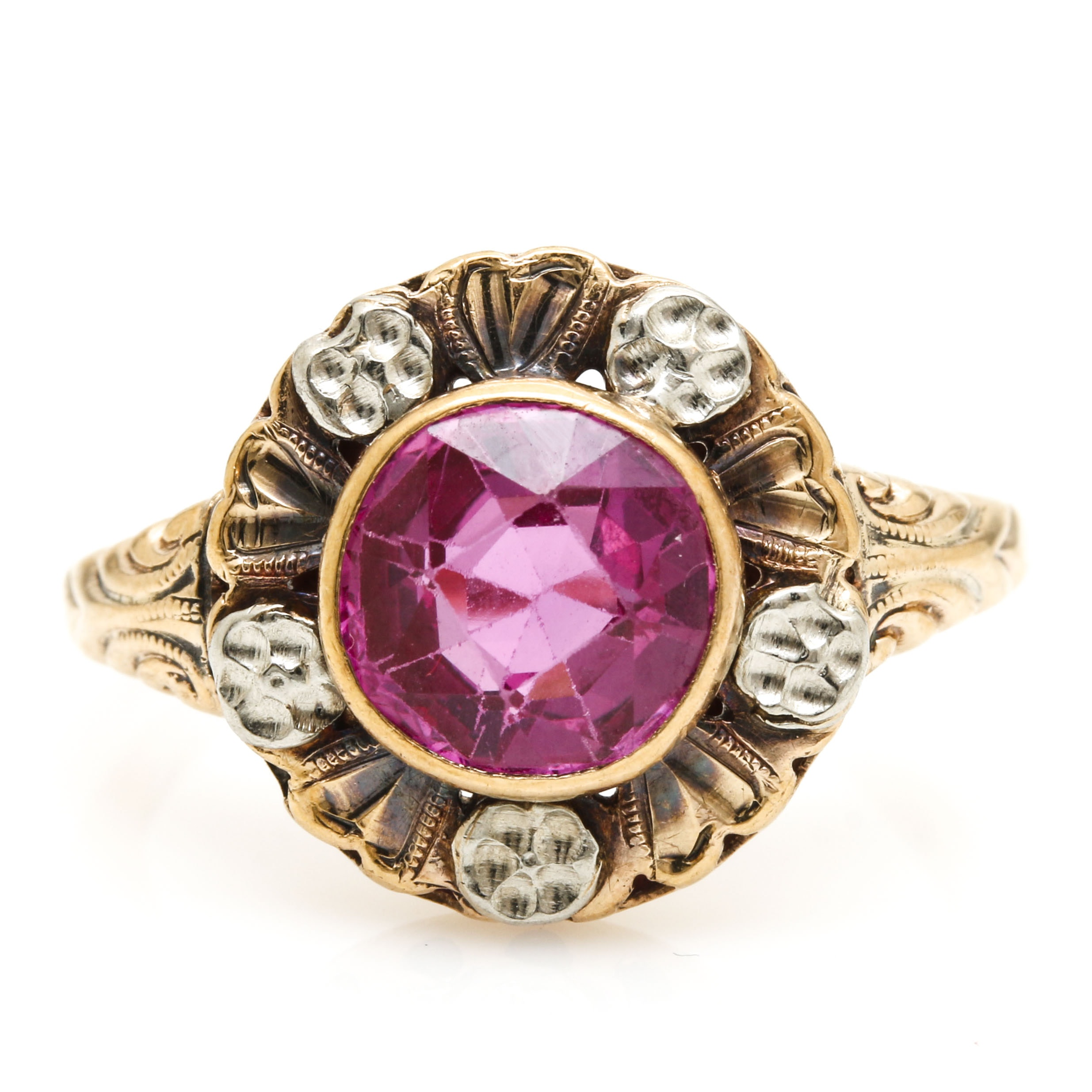Vintage 10K Yellow Gold and Sapphire Ring