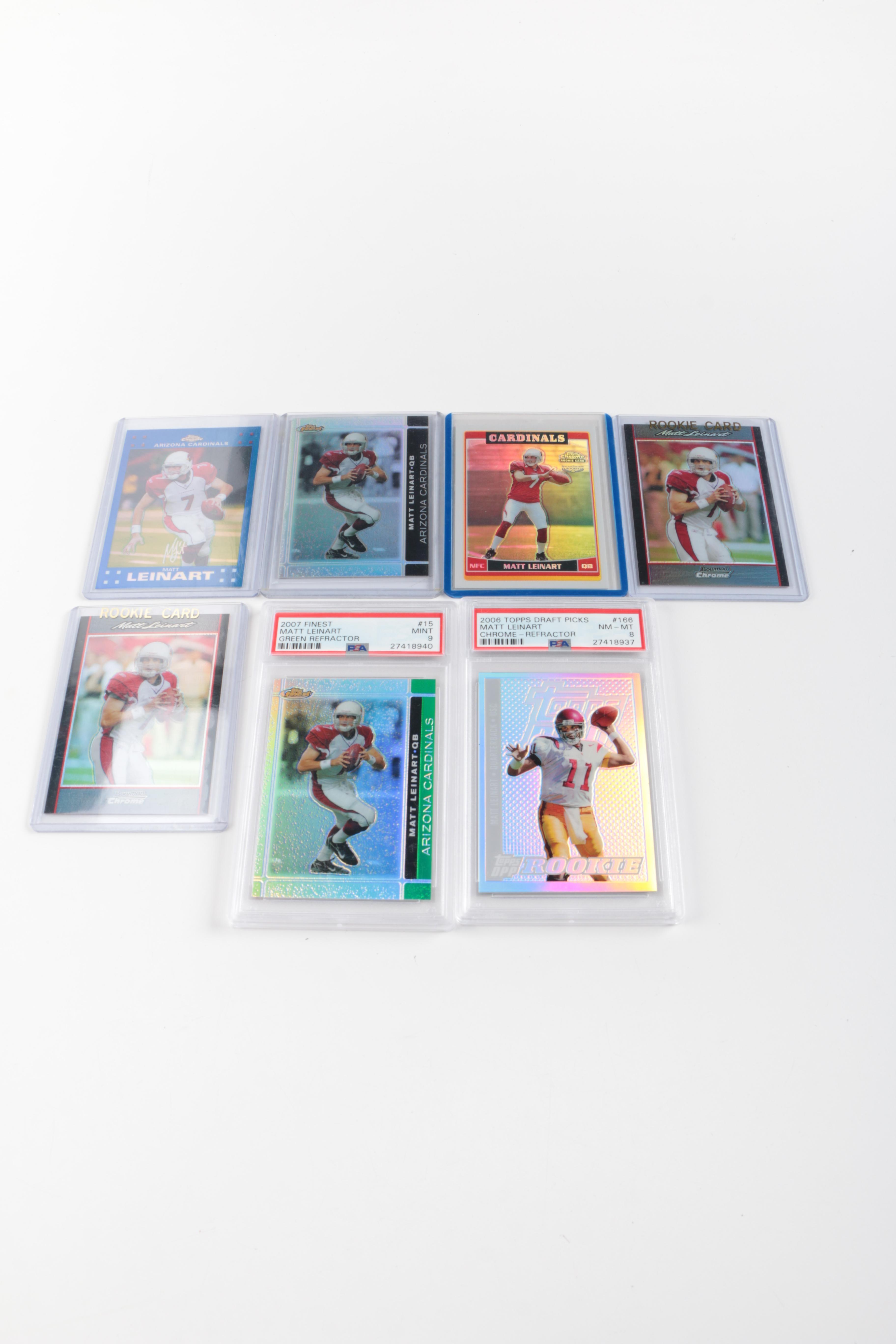 Collection of Matt Leinart Rookie Football Cards