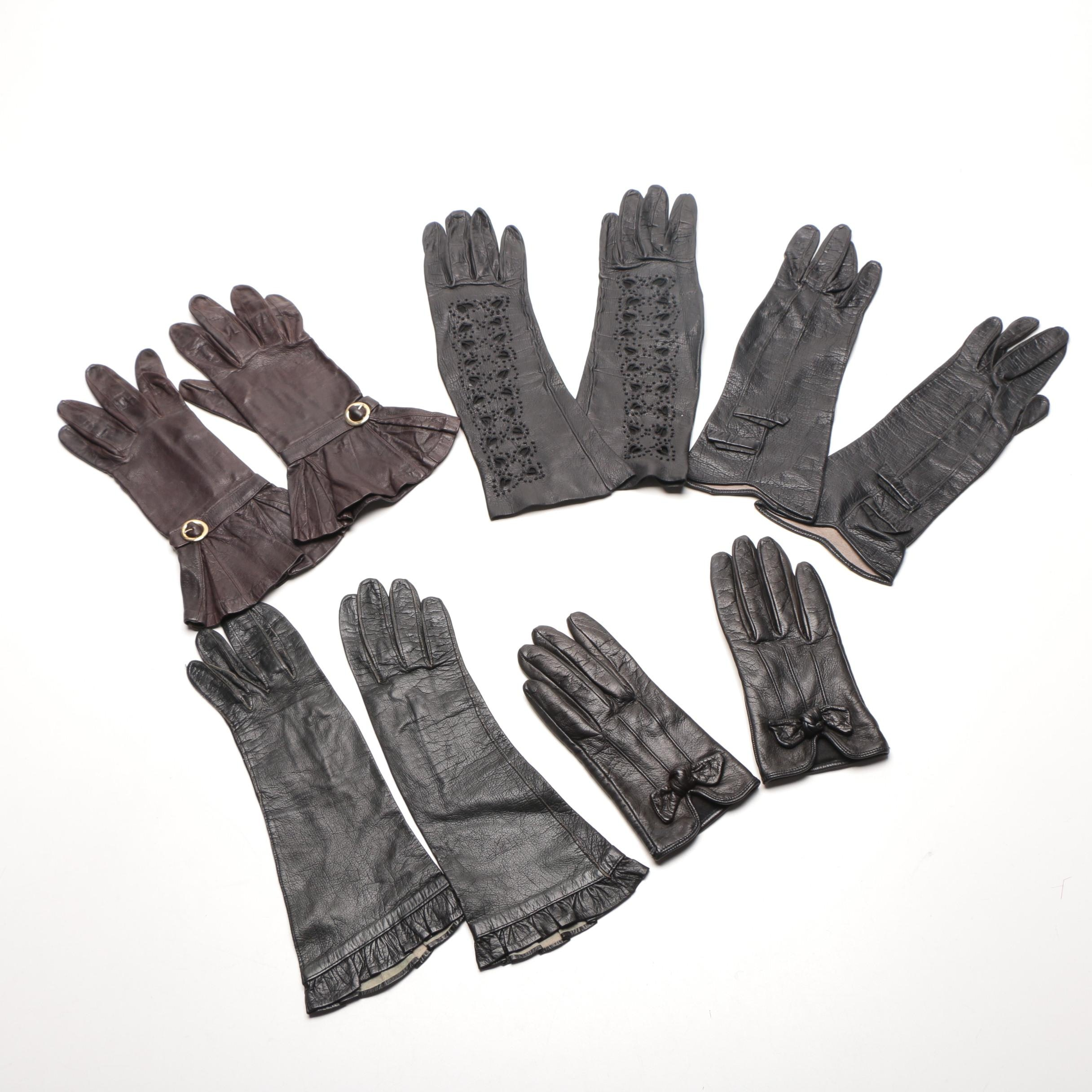 Women's Assorted Leather Gloves