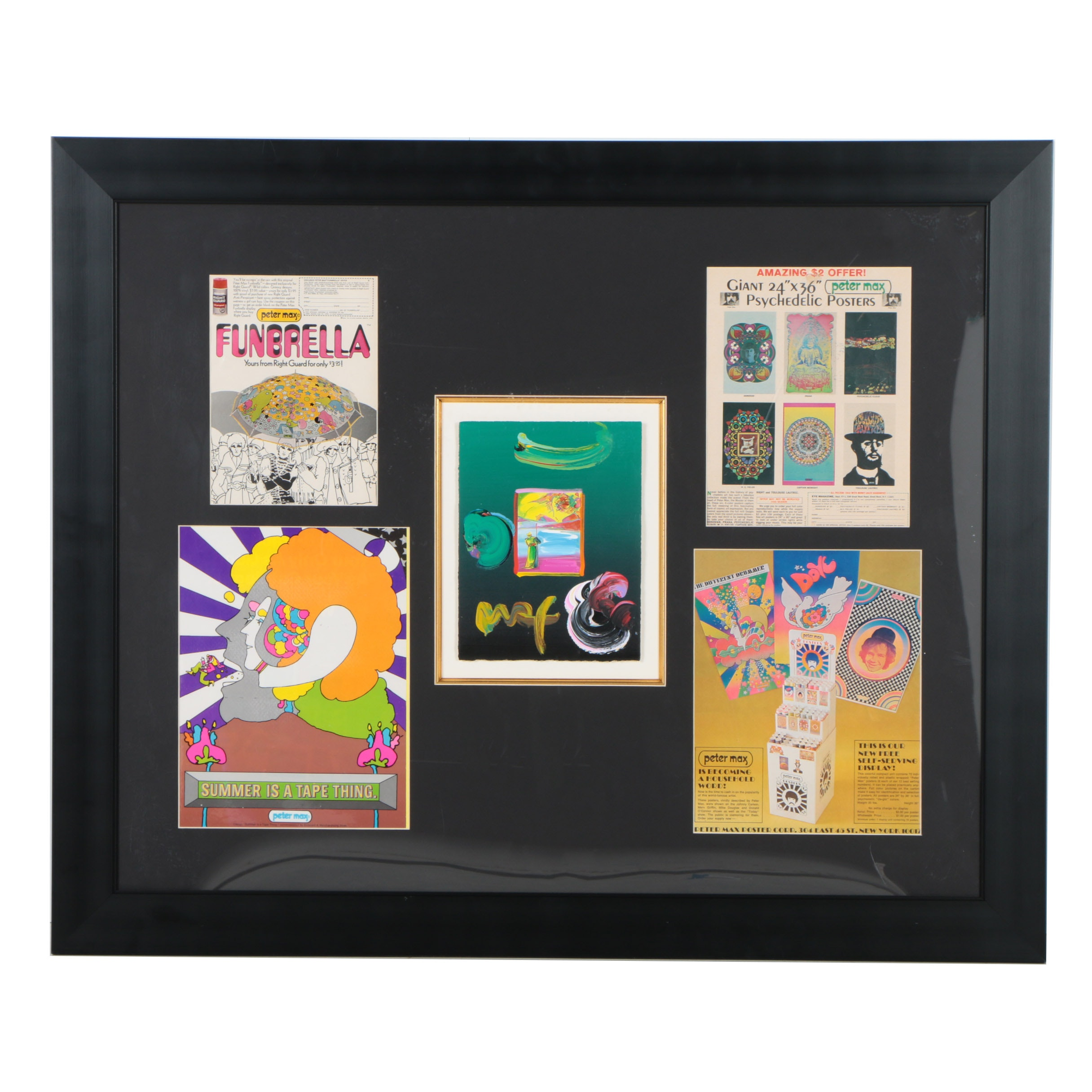 Peter Max Offset Lithograph with Acrylic Embellishments