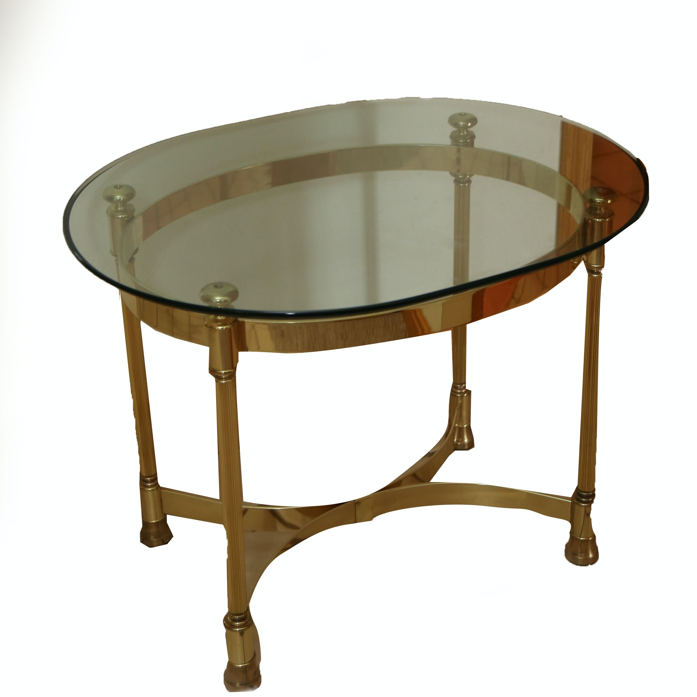 Regency Style Glass Top Side Table