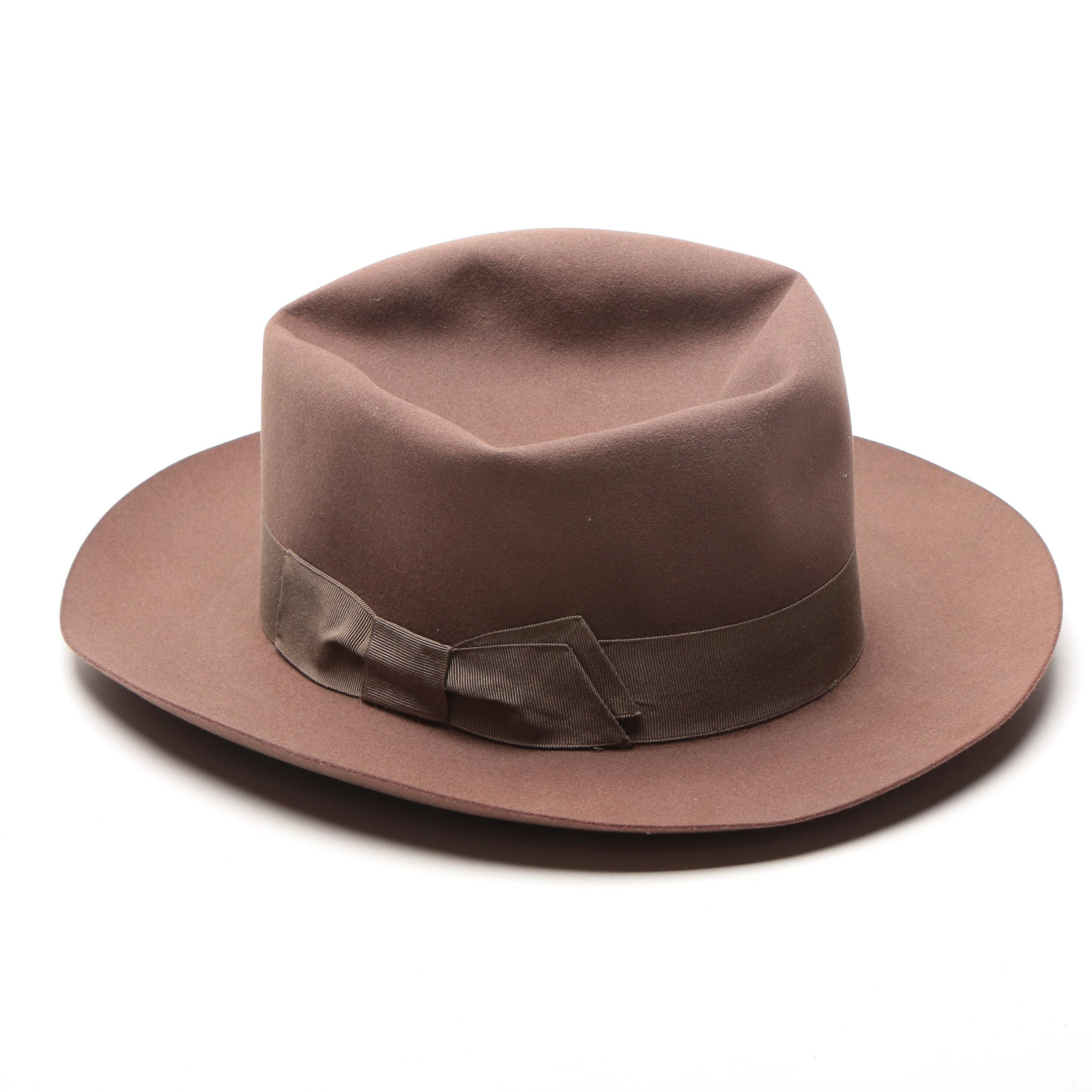 Borsalino Brown Felted Nutria Hat