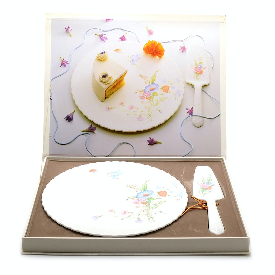 Mikasa Cake Plate And Server