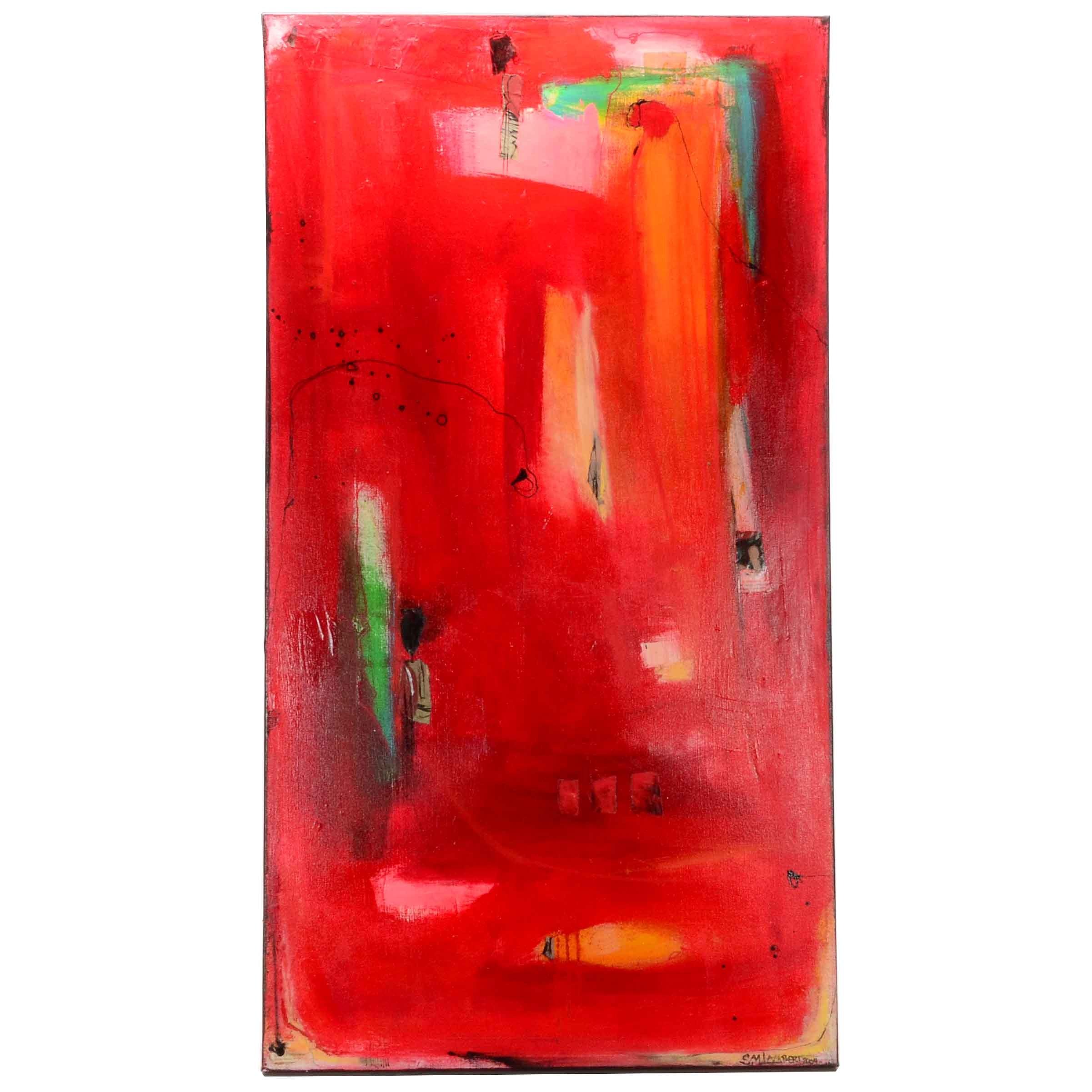 Suzanne Lambert Original 2004 Mixed Media Abstract Painting