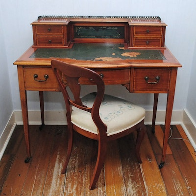 Antique Writing Desk With Chair - Vintage Desks, Antique Desks And Used Desks Auction In Louisville