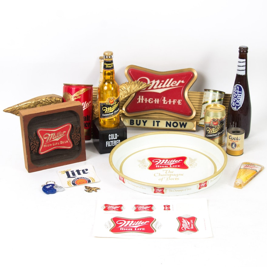 Vintage Miller Light Up Beer Signs And Related Decor Ebth