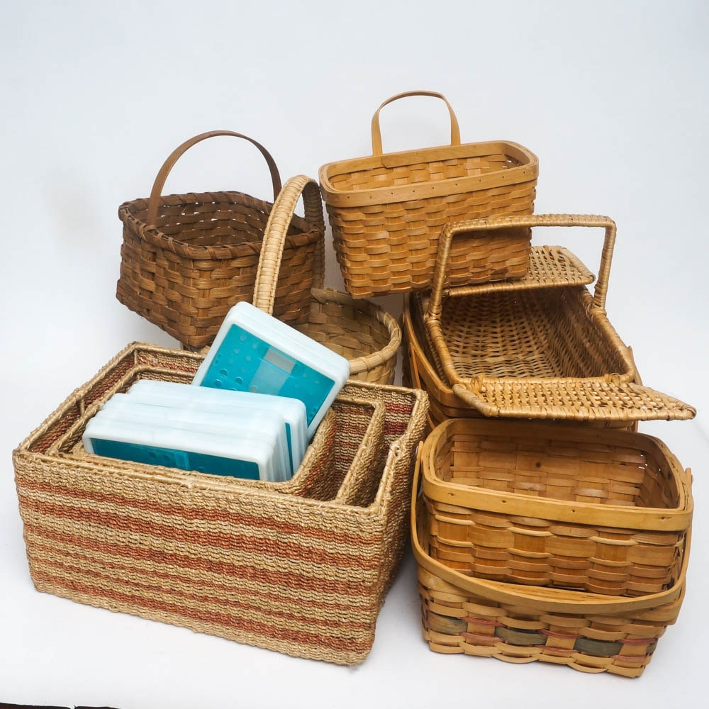 Generous Assortment of Baskets and Storage Containers