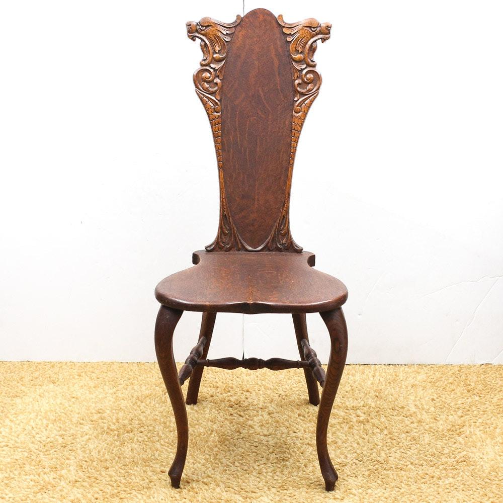 Italian Renaissance Revival Hall Chair