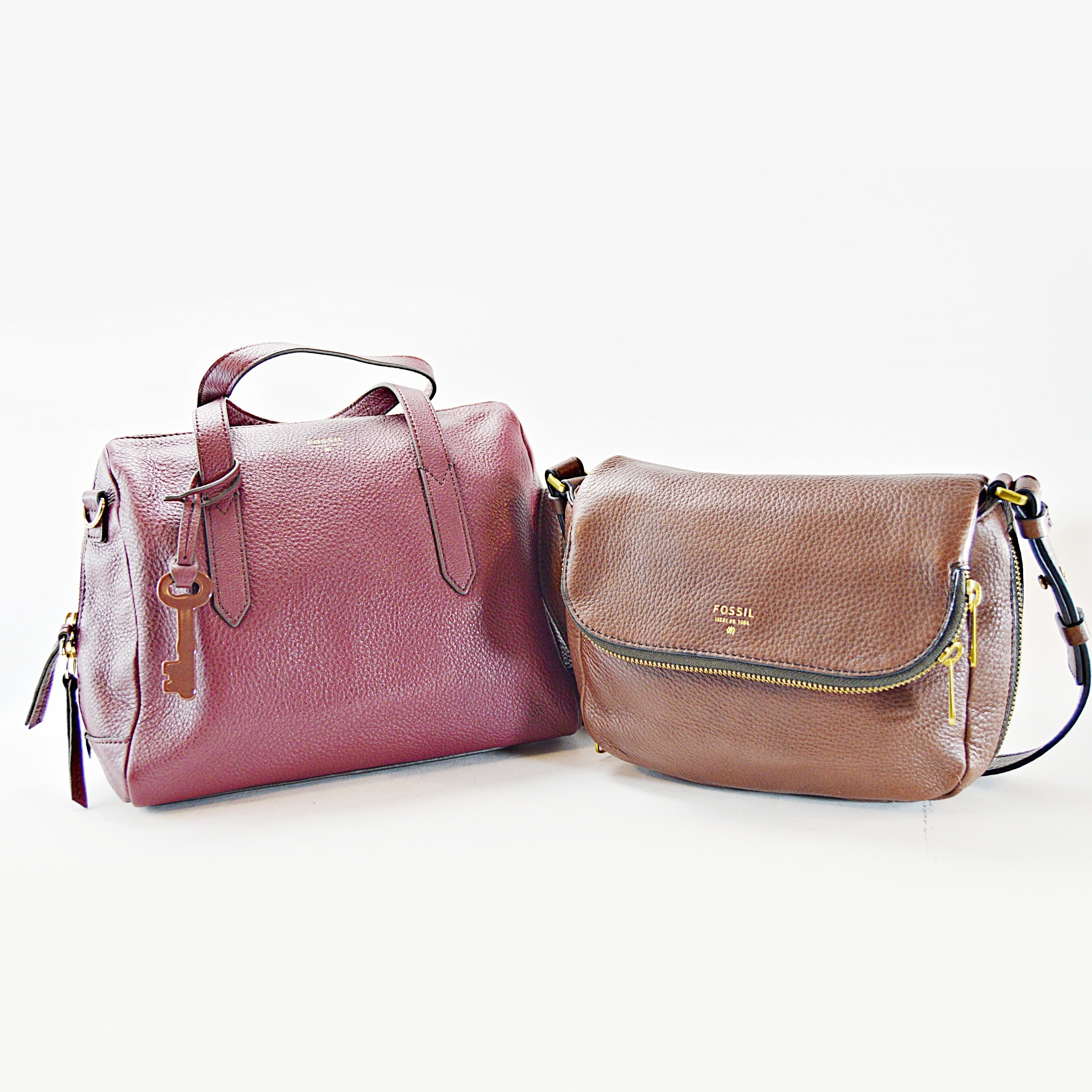 Two Fossil Leather Handbags