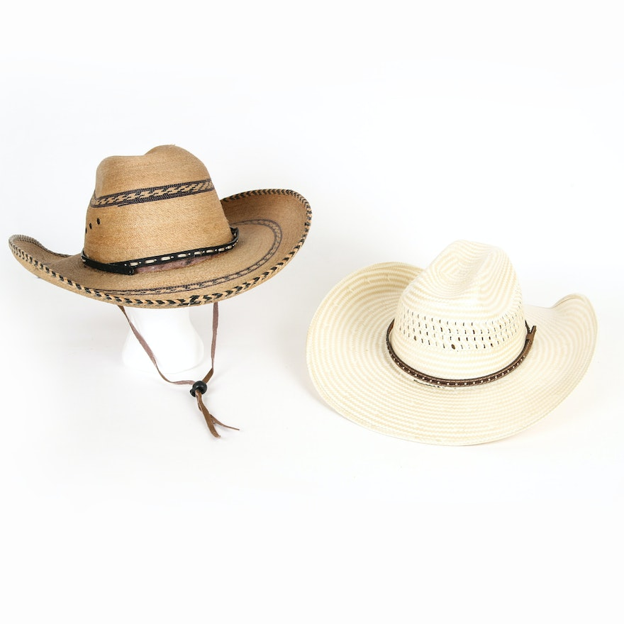 475da065d6f Pair of Hard Formed Cowboy Hats Including Cavenders   EBTH