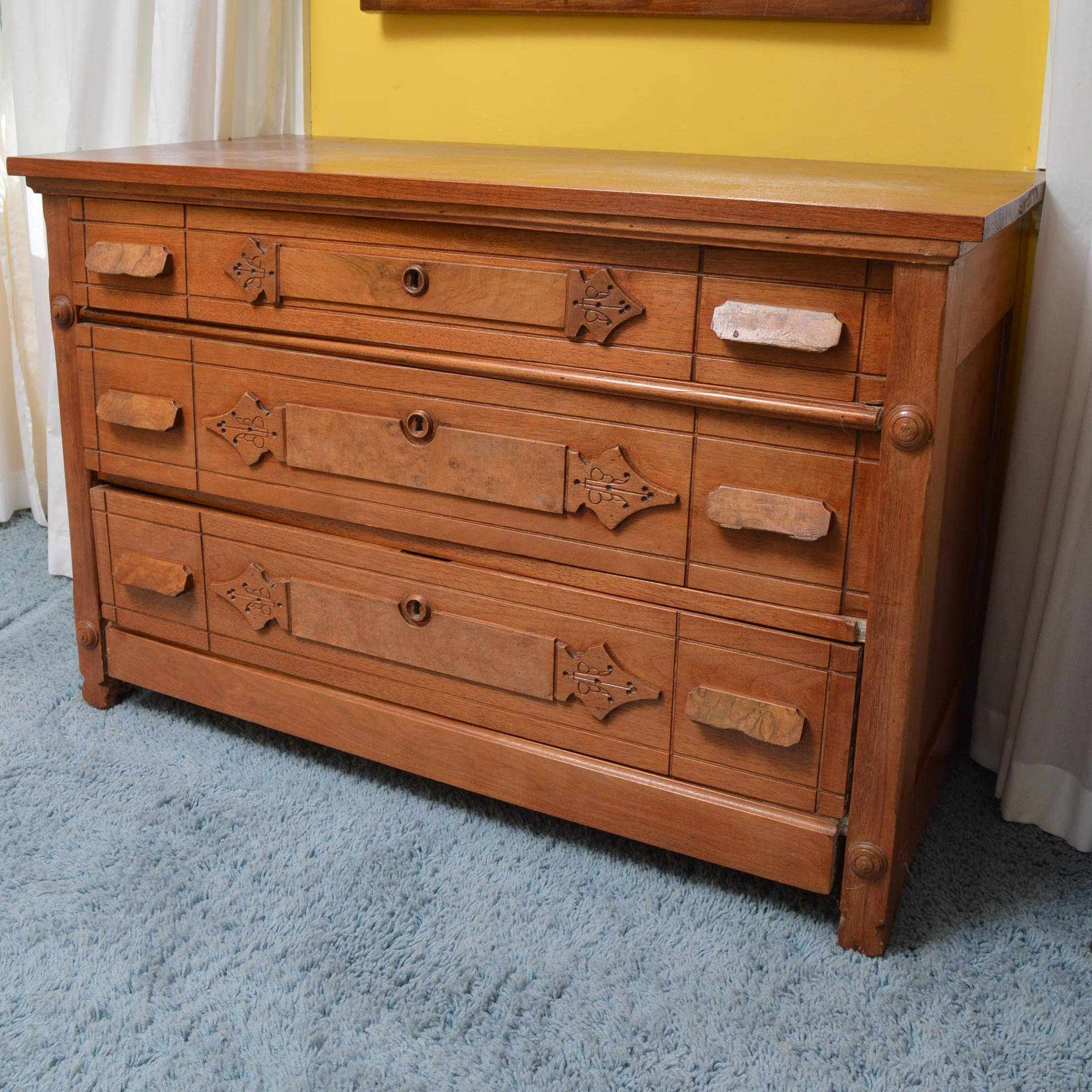 East Lake Style Wooden Chest of Drawers