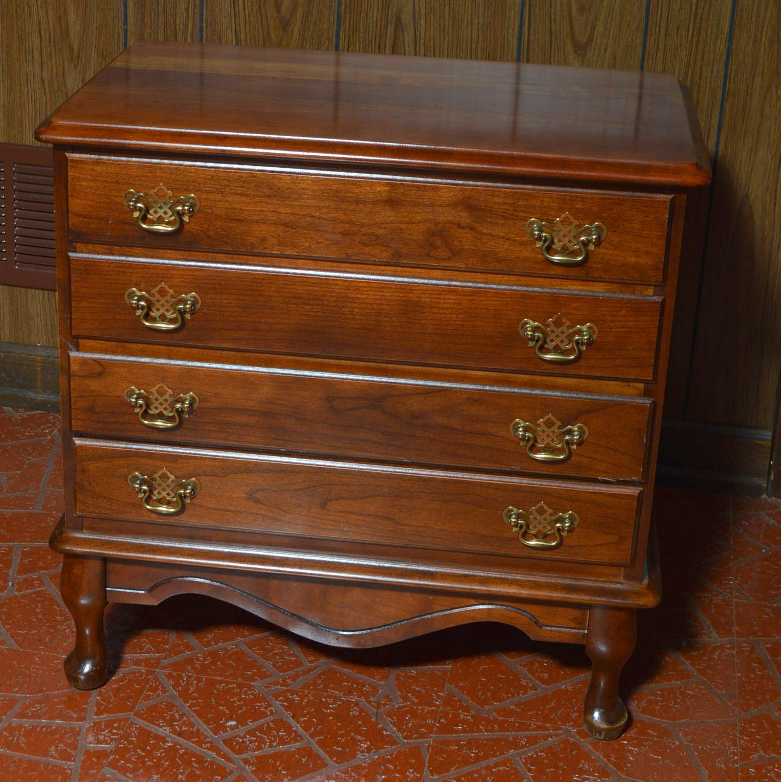 Colonial Style Walnut Side Chest of Drawers